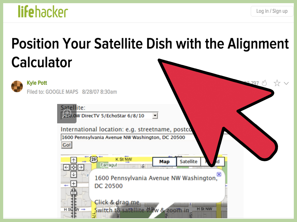 hight resolution of how to install dish network satellite tv indoors