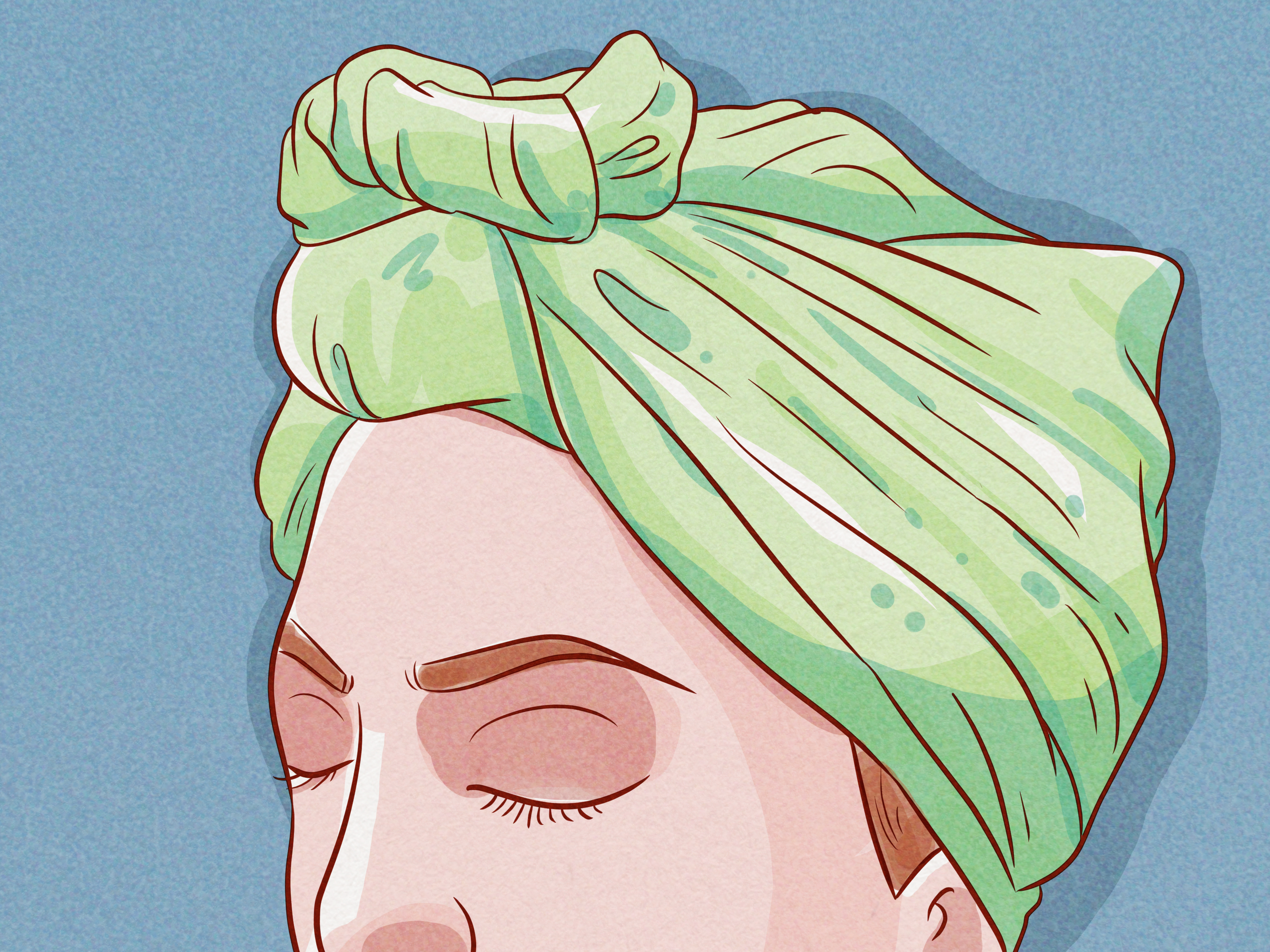 3 Ways To Wrap Your Hair In A Scarf For Bed Wikihow