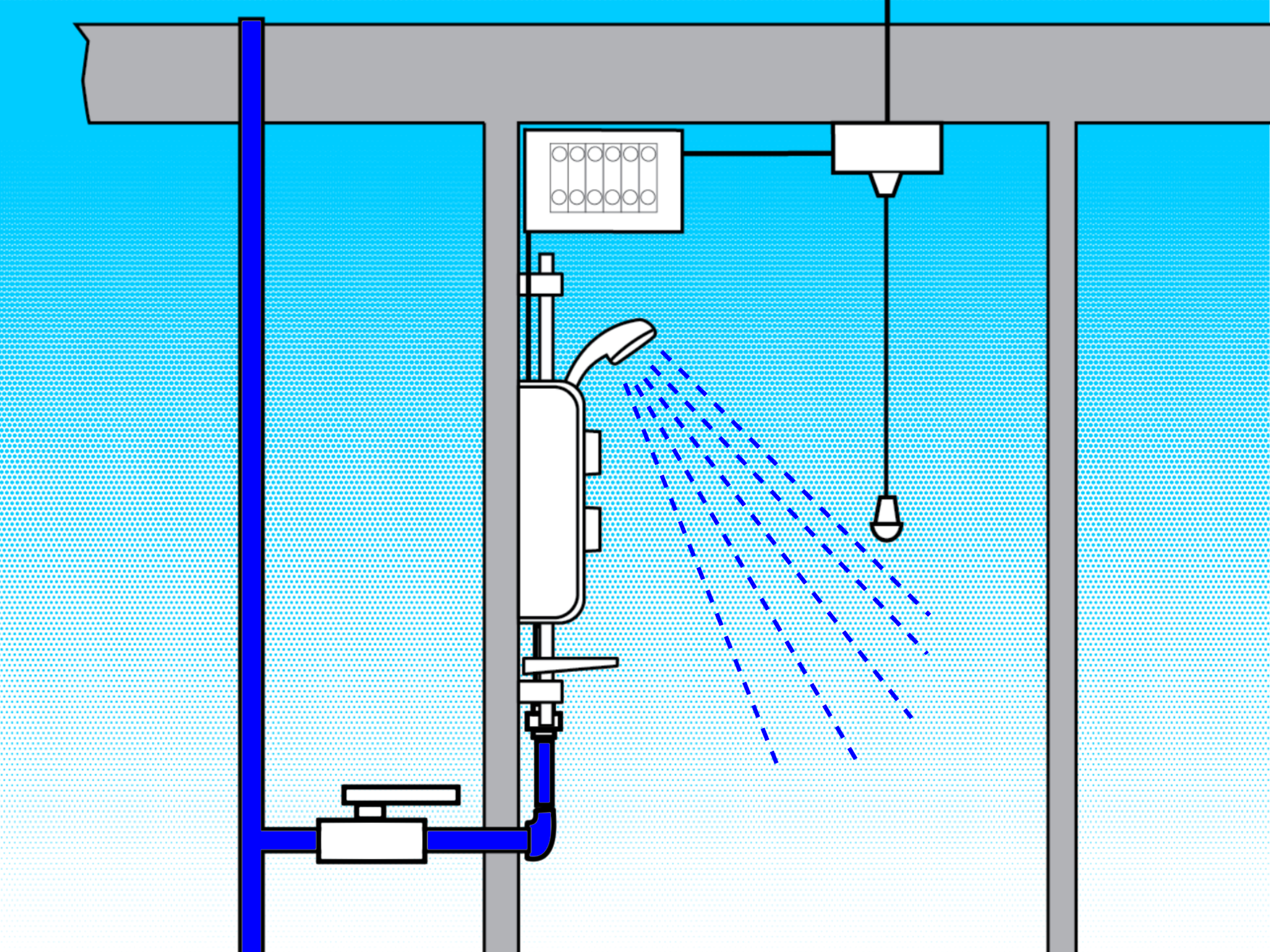 basic home electrical wiring diagram sony deck how to fit an electric shower: 12 steps (with pictures) - wikihow
