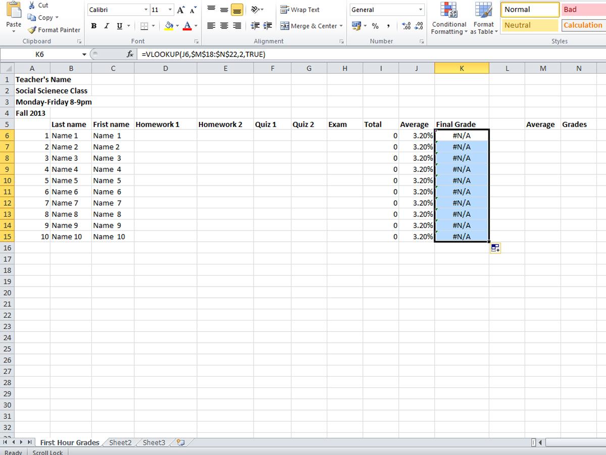 4 Easy Ways To Create A Gradebook On Microsoft Excel