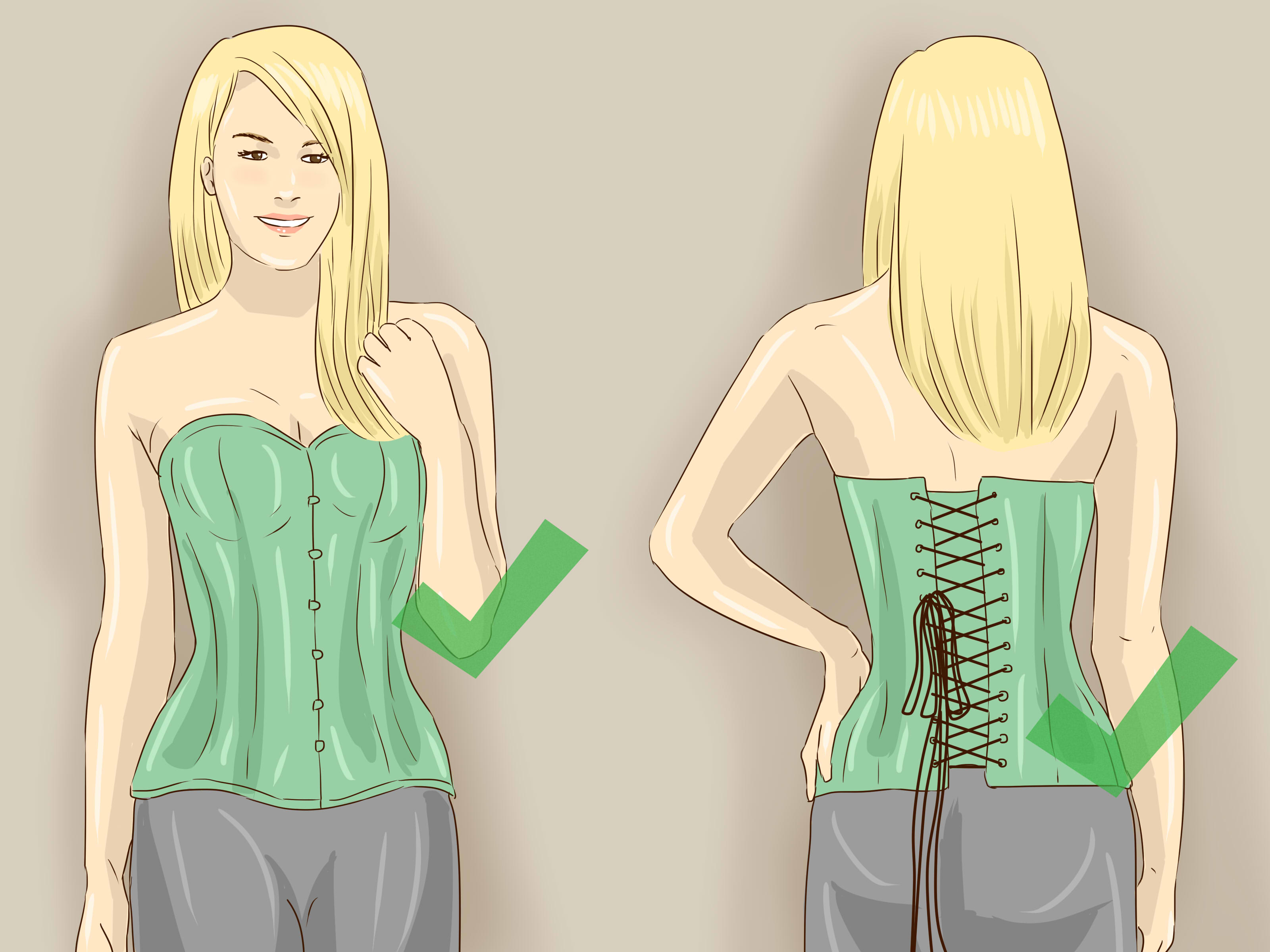 How to Put on a Corset 15 Steps with Pictures  wikiHow