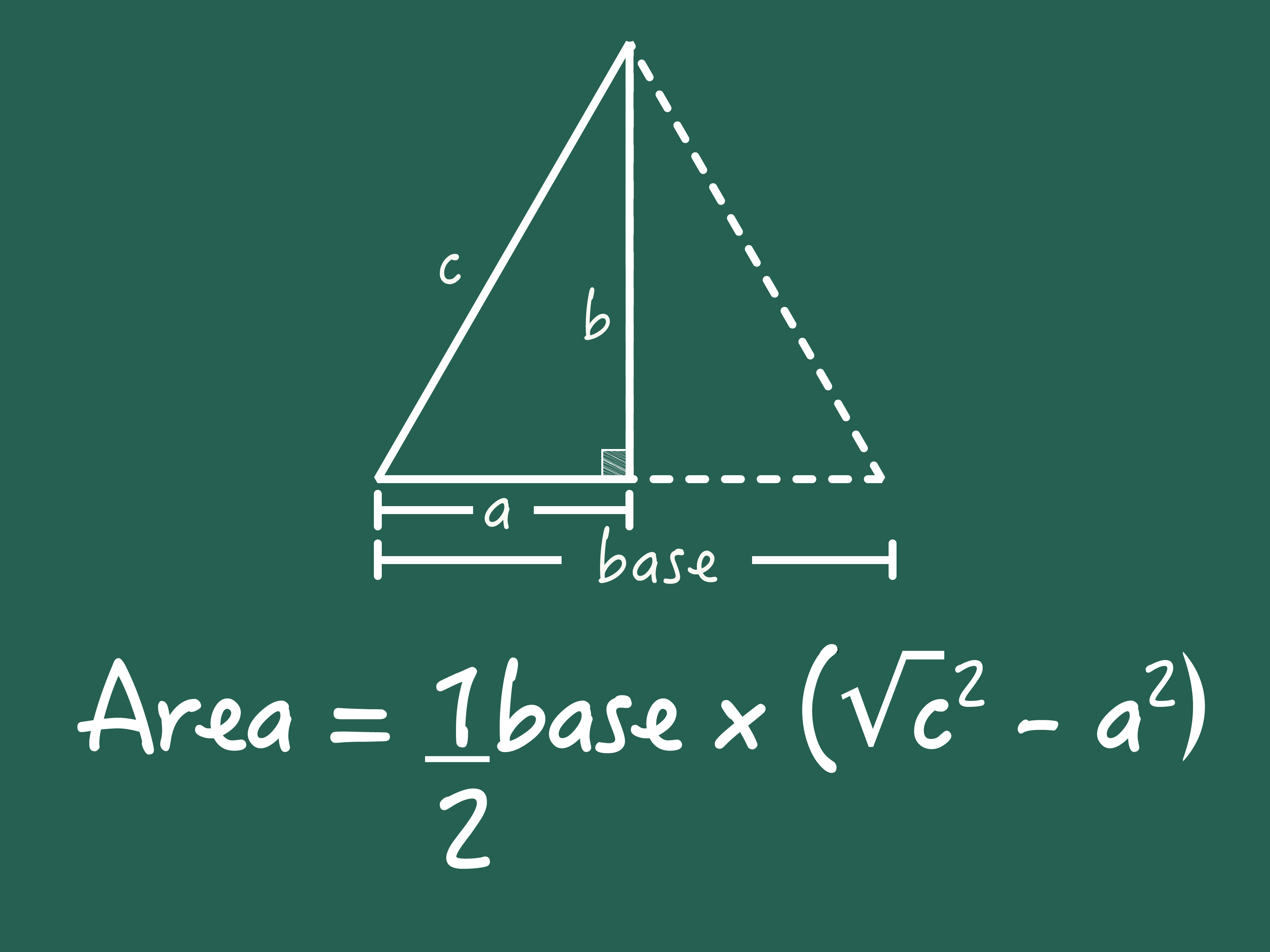 How To Find The Area Of An Isosceles Triangle 7 Steps