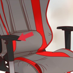 Office Chair You Sit Backwards Grey Kitchen Chairs How To Adjust An With Pictures Wikihow