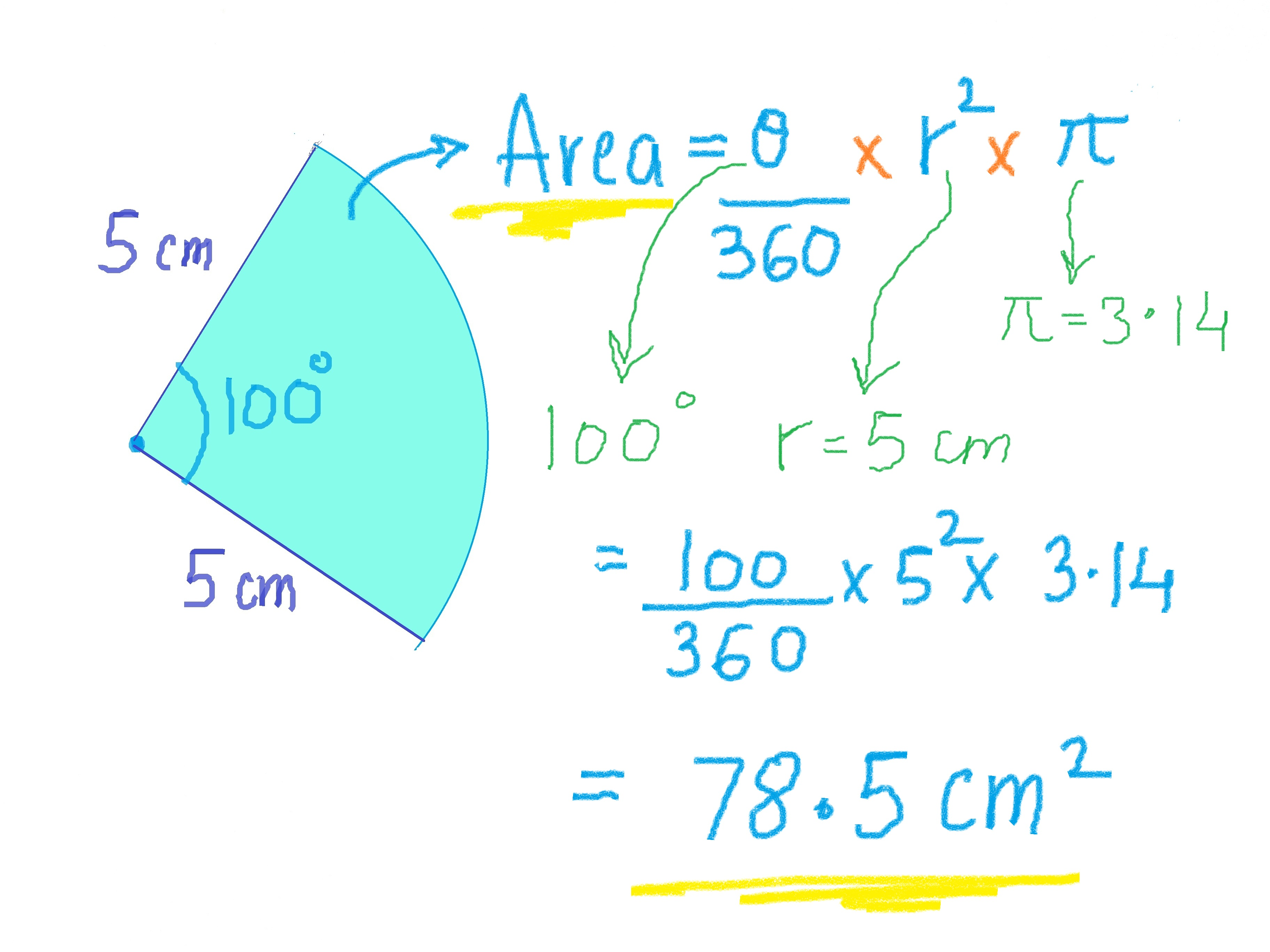 How To Calculate The Area Of A Sector 7 Steps