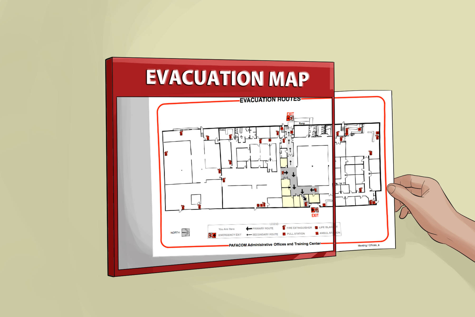 example of fire exit diagram hampton bay wiring how to evacuate a building in an emergency 11 steps