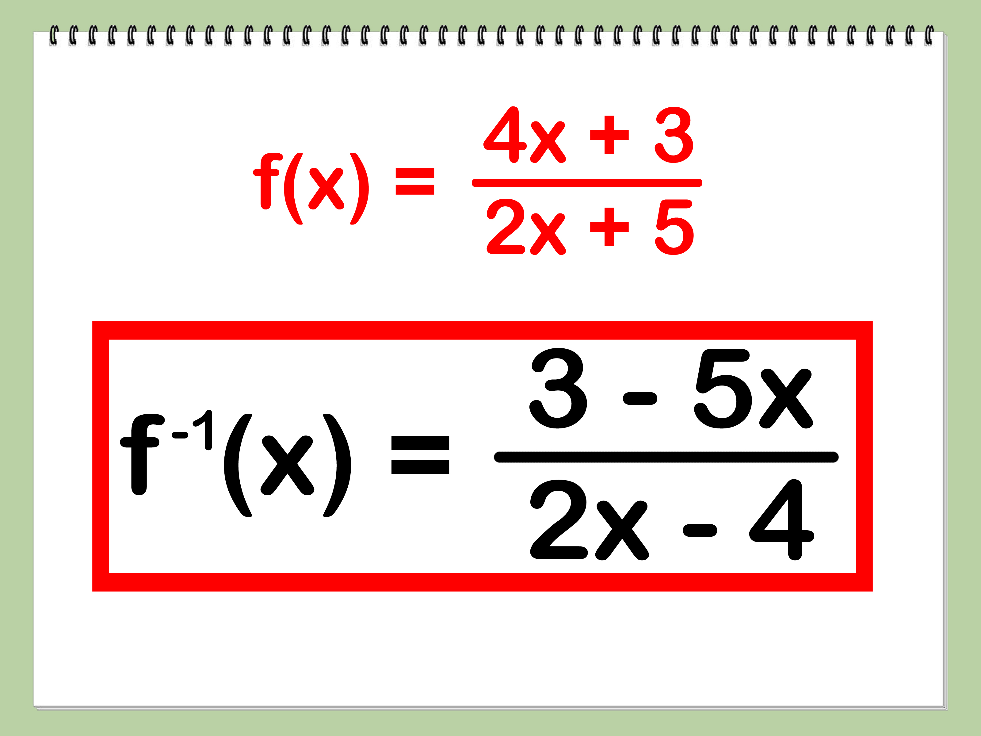 How To Find The Inverse Of A Function 4 Steps With Pictures