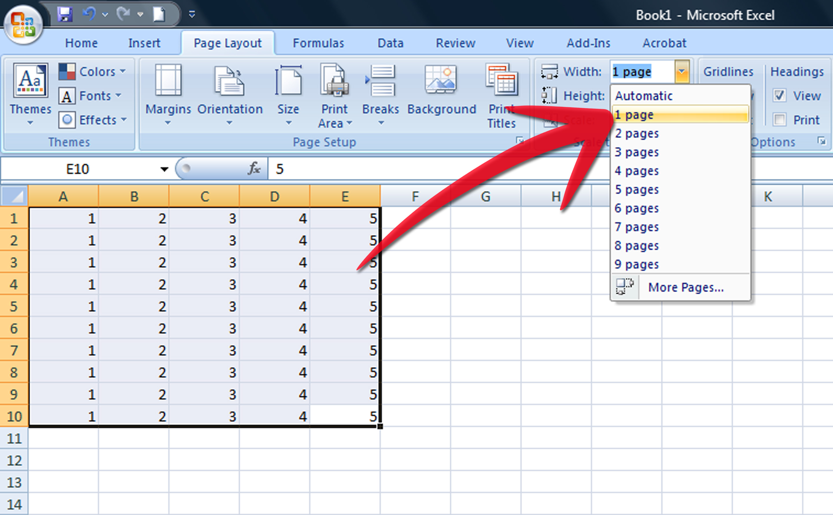 How To Print Part Of An Excel Spreadsheet