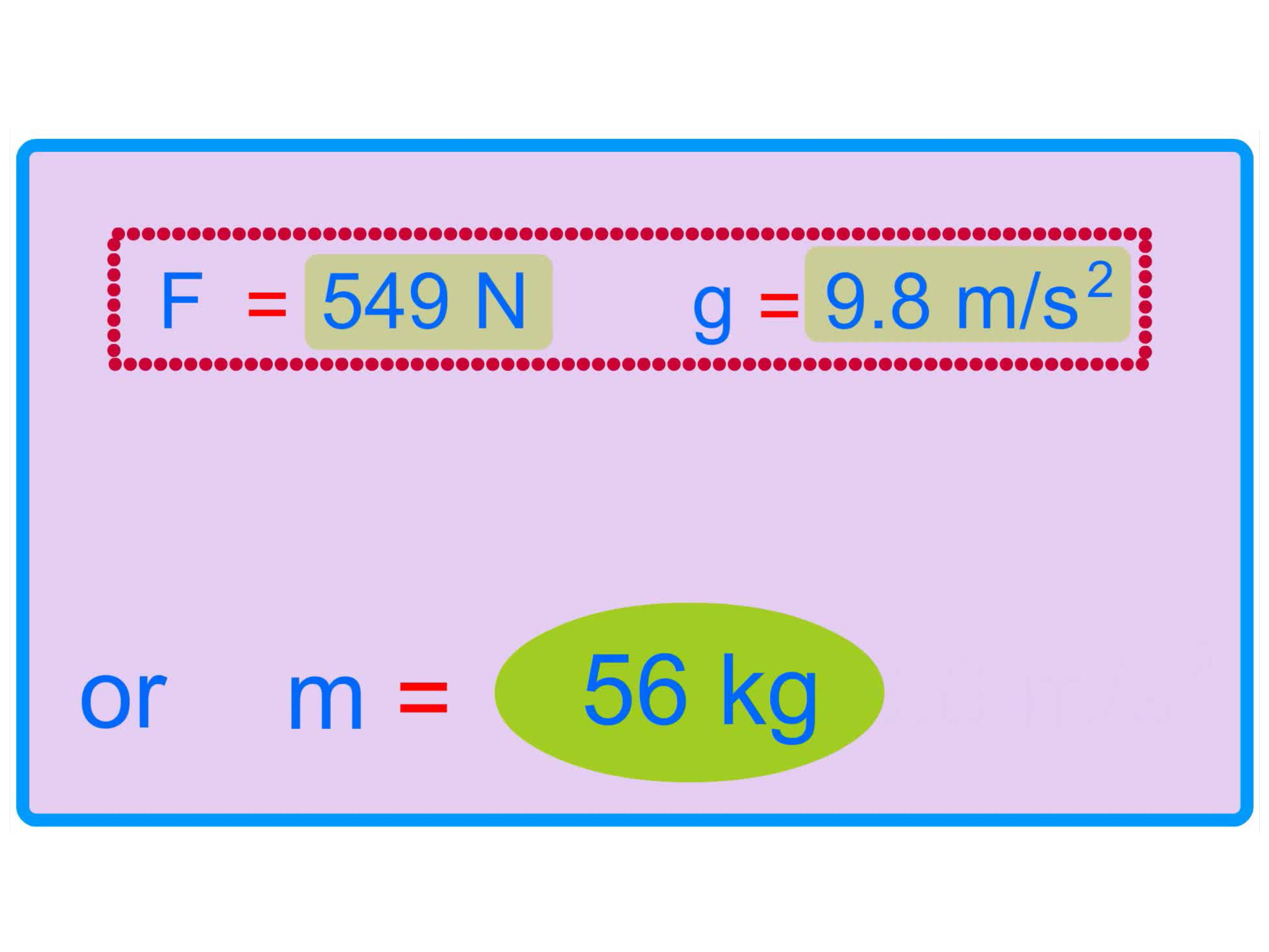 How To Calculate Weight From Mass With Calculator