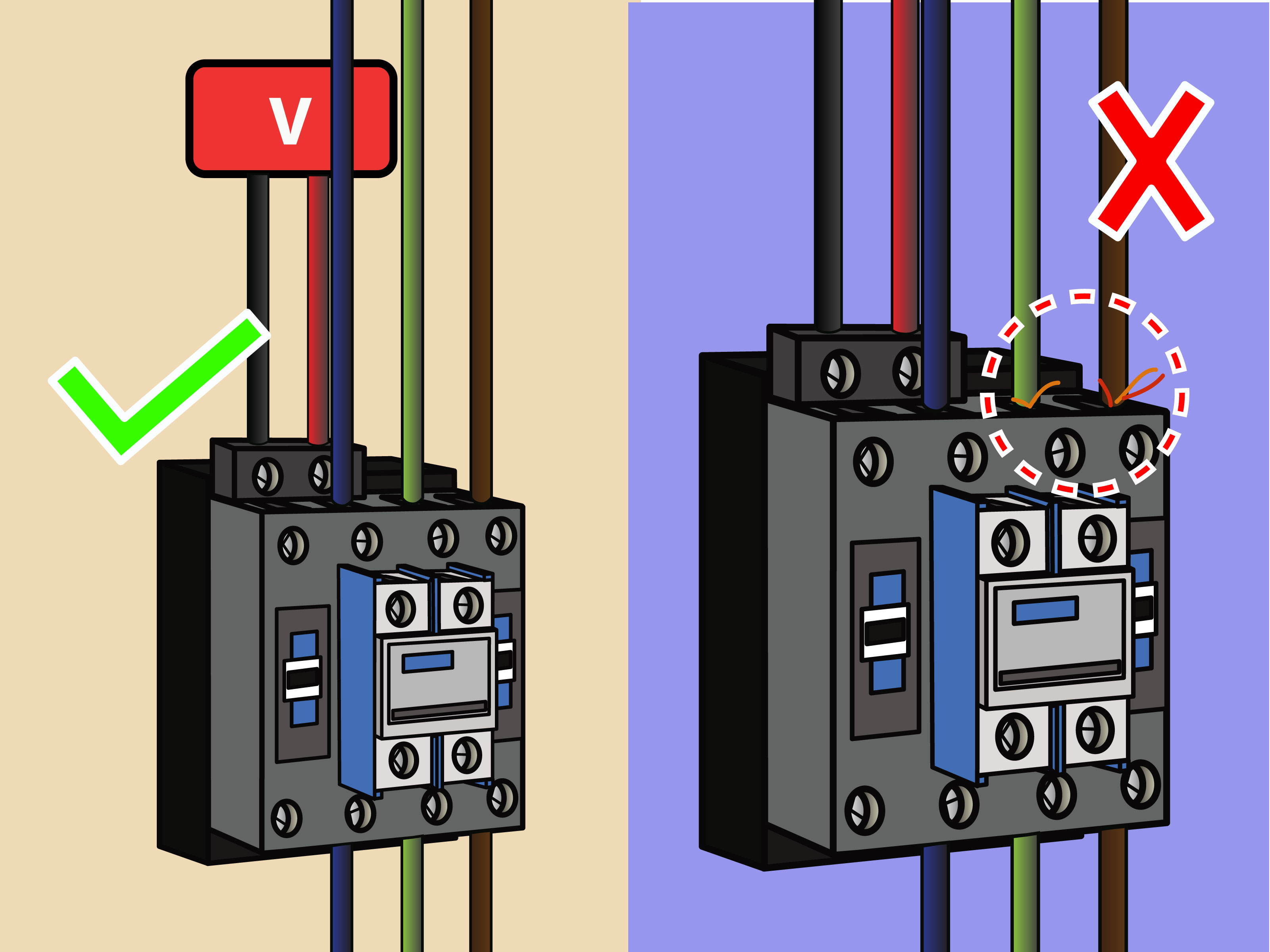 wiring diagram for house lights pollak 7 way trailer plug how to wire a contactor 8 steps with pictures wikihow