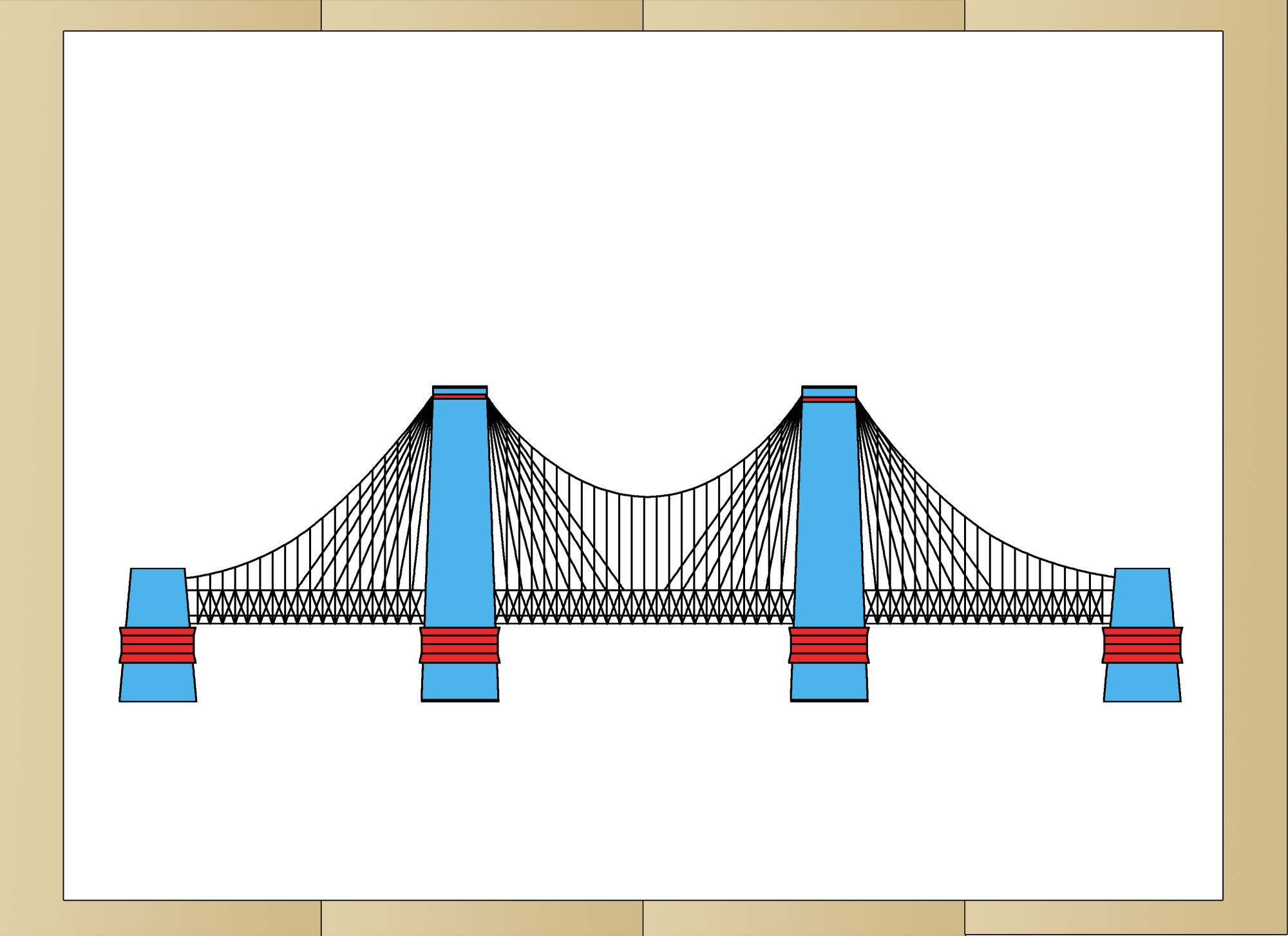 hight resolution of how to draw suspension bridges