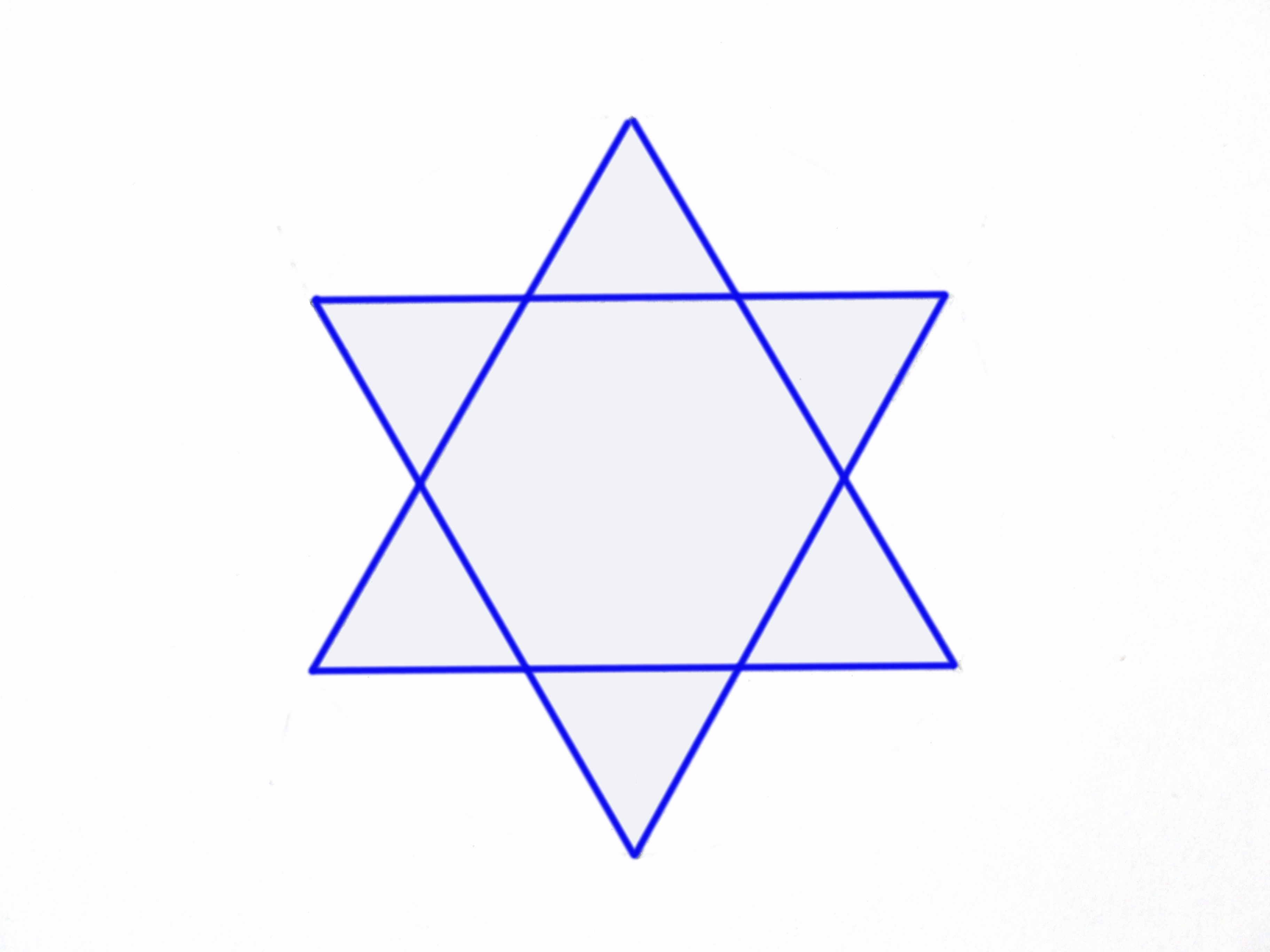 How To Create The Star Of David Using A Pencil Ruler And