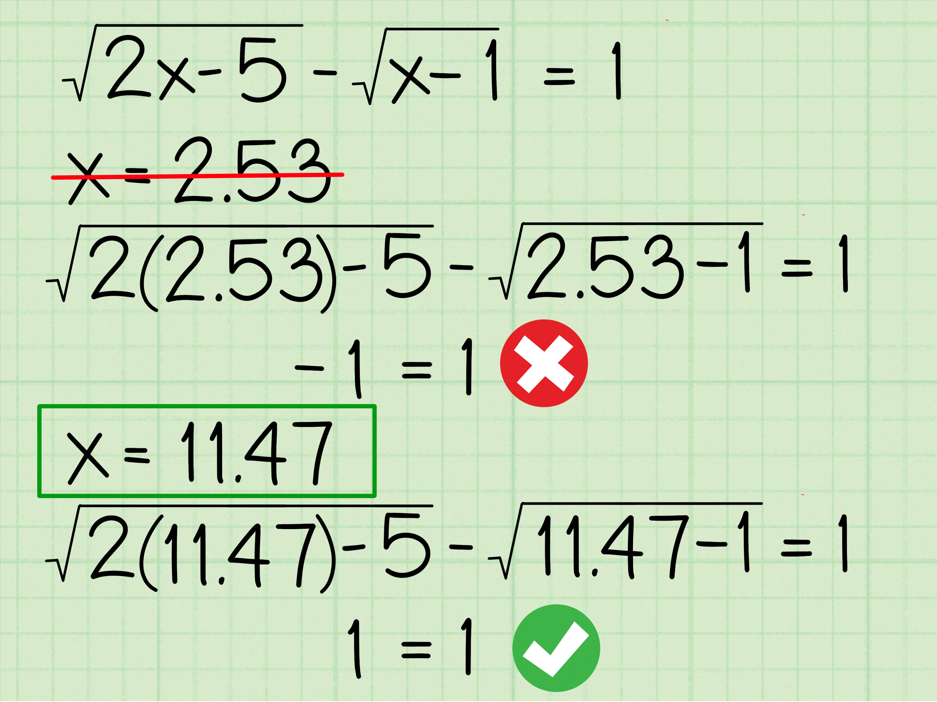 How To Solve Radical Equations 12 Steps With Pictures
