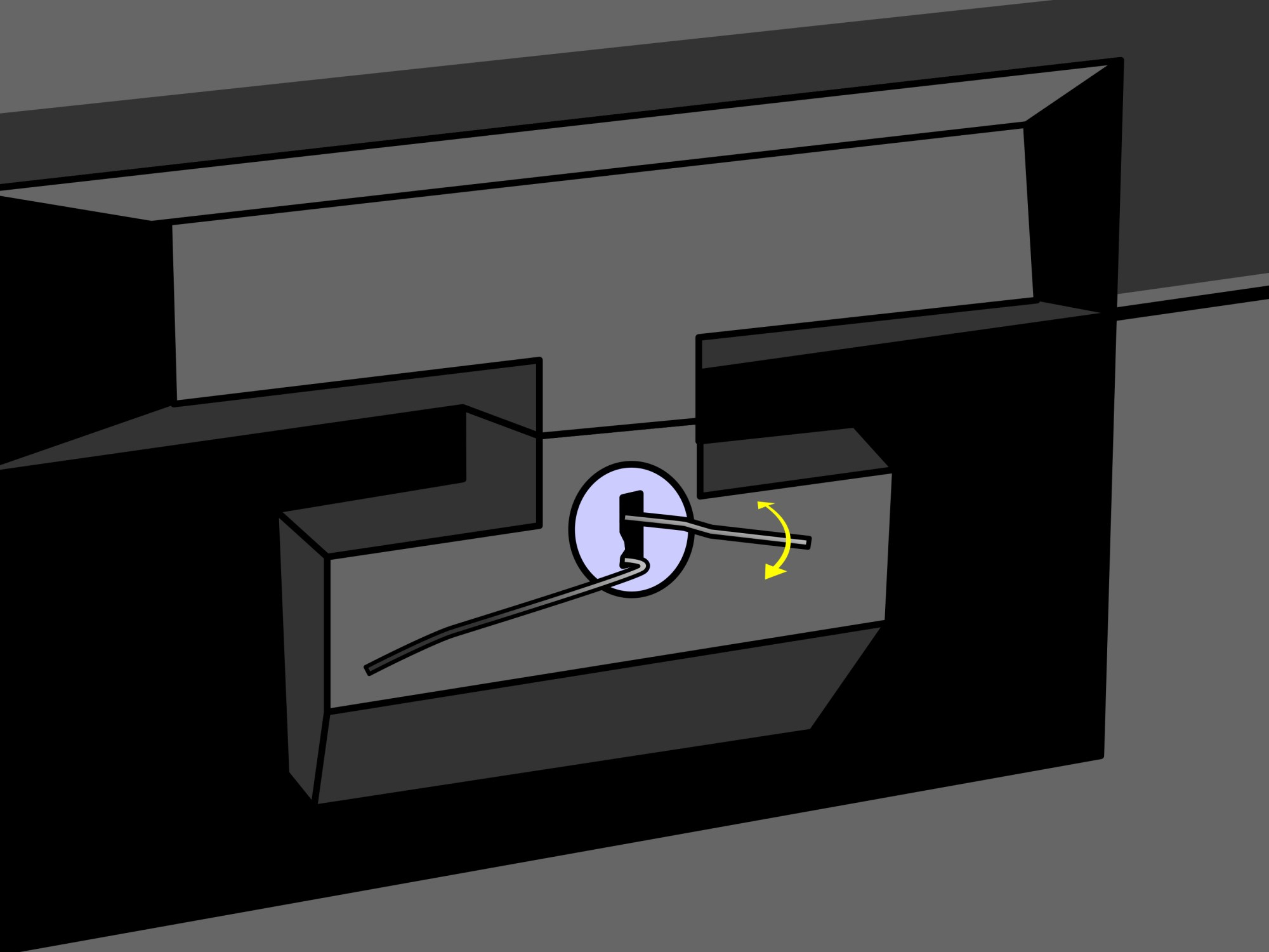 hight resolution of lock picking diagram