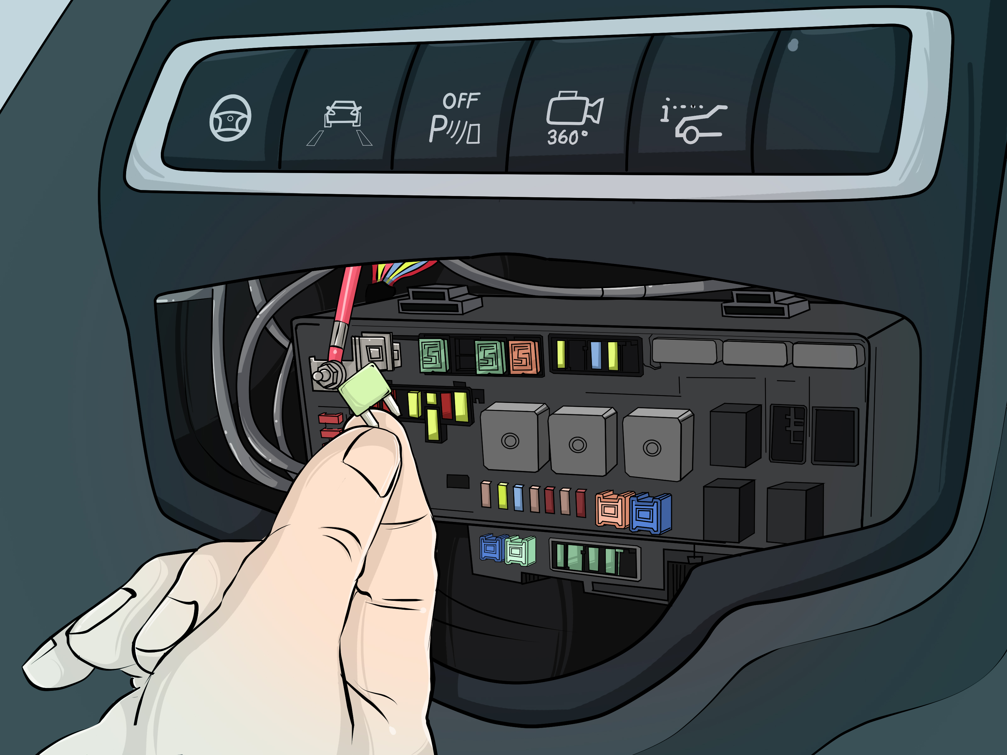 2000 Toyota Corolla Inside Fuse Box Diagram 3 Ways To Fix Dashboard Lights That Won T Light Wikihow