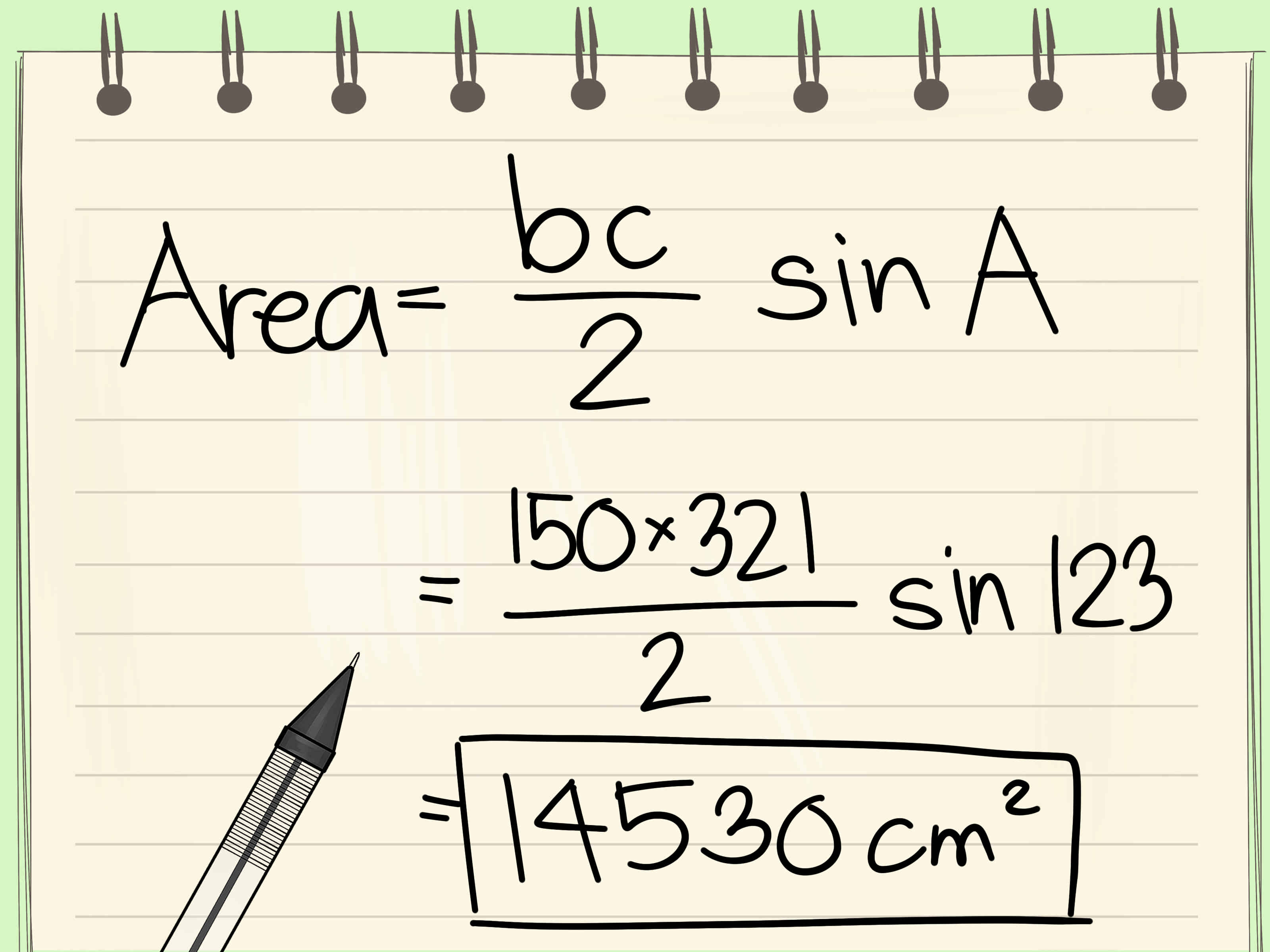 How To Calculate The Area Of A Triangle With Cheat Sheets