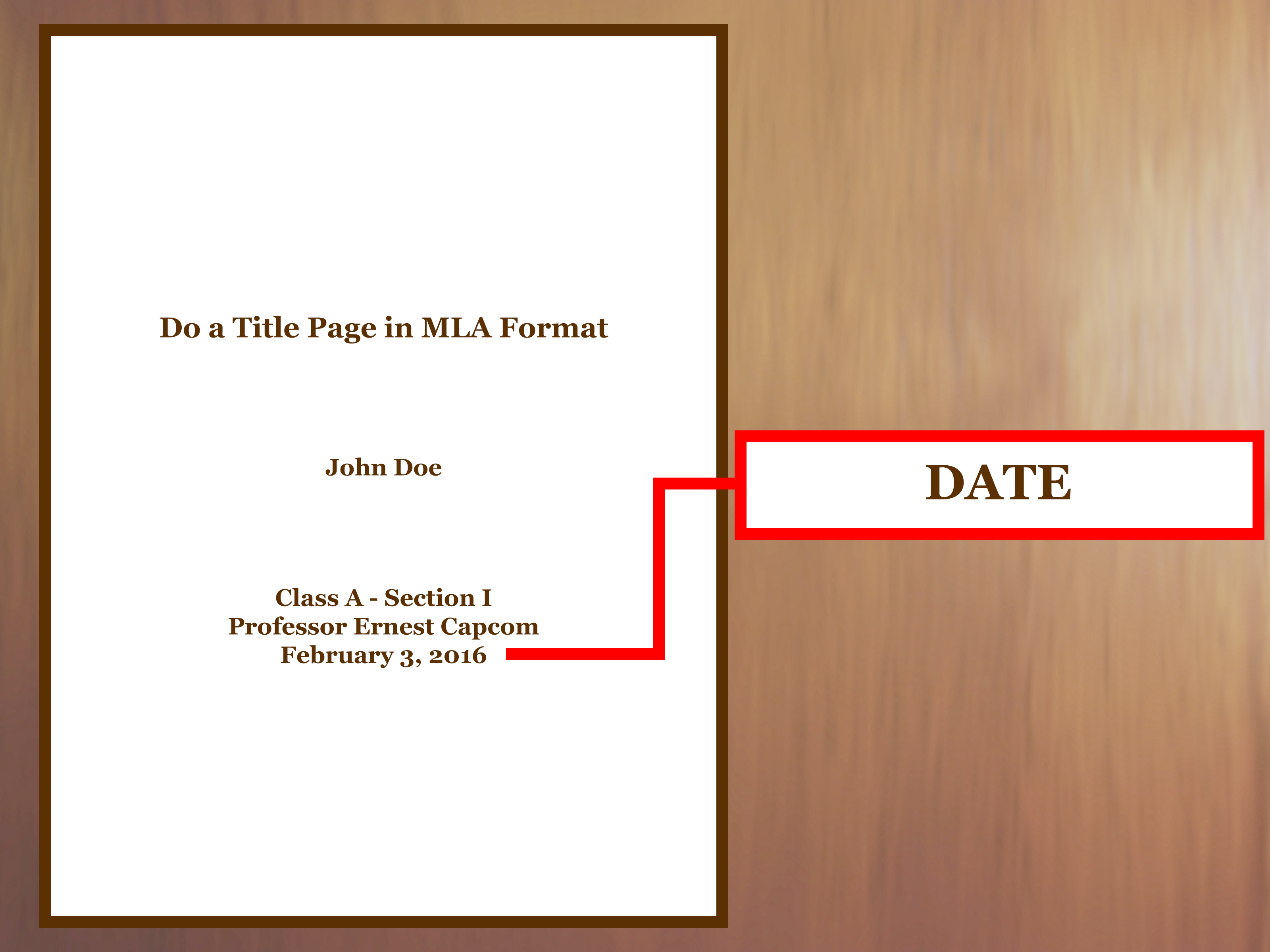how to format a title page mla