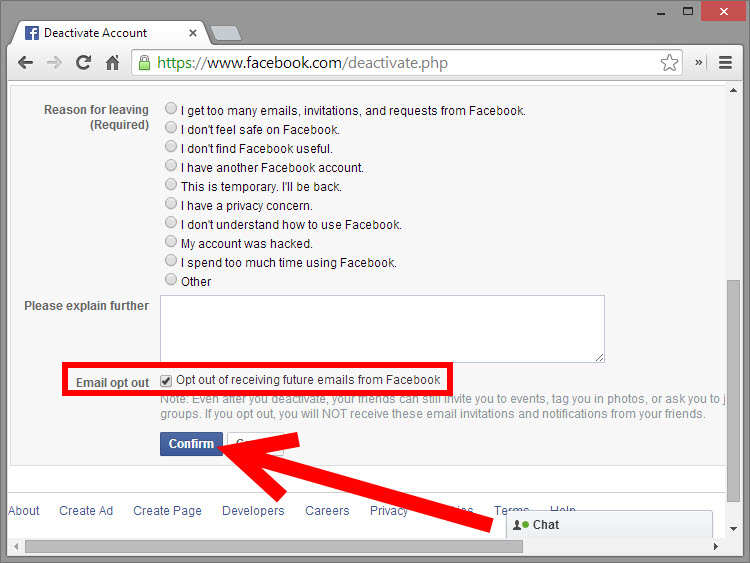 Deactivate Facebook Account Permanently - 72.0KB