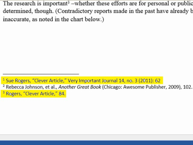 How to cite a thesis in a footnote chicago