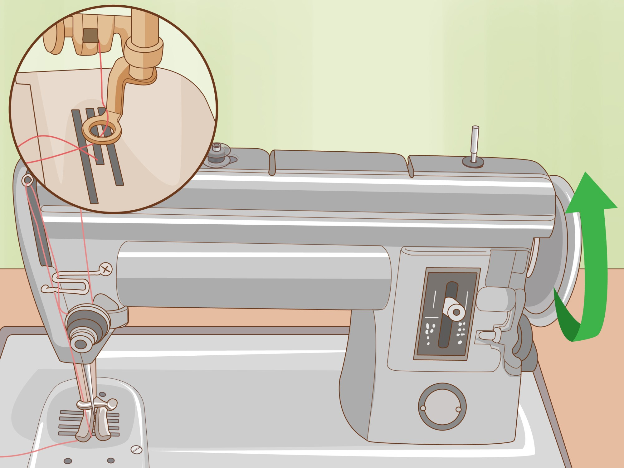 hight resolution of how to thread a singer sewing machine
