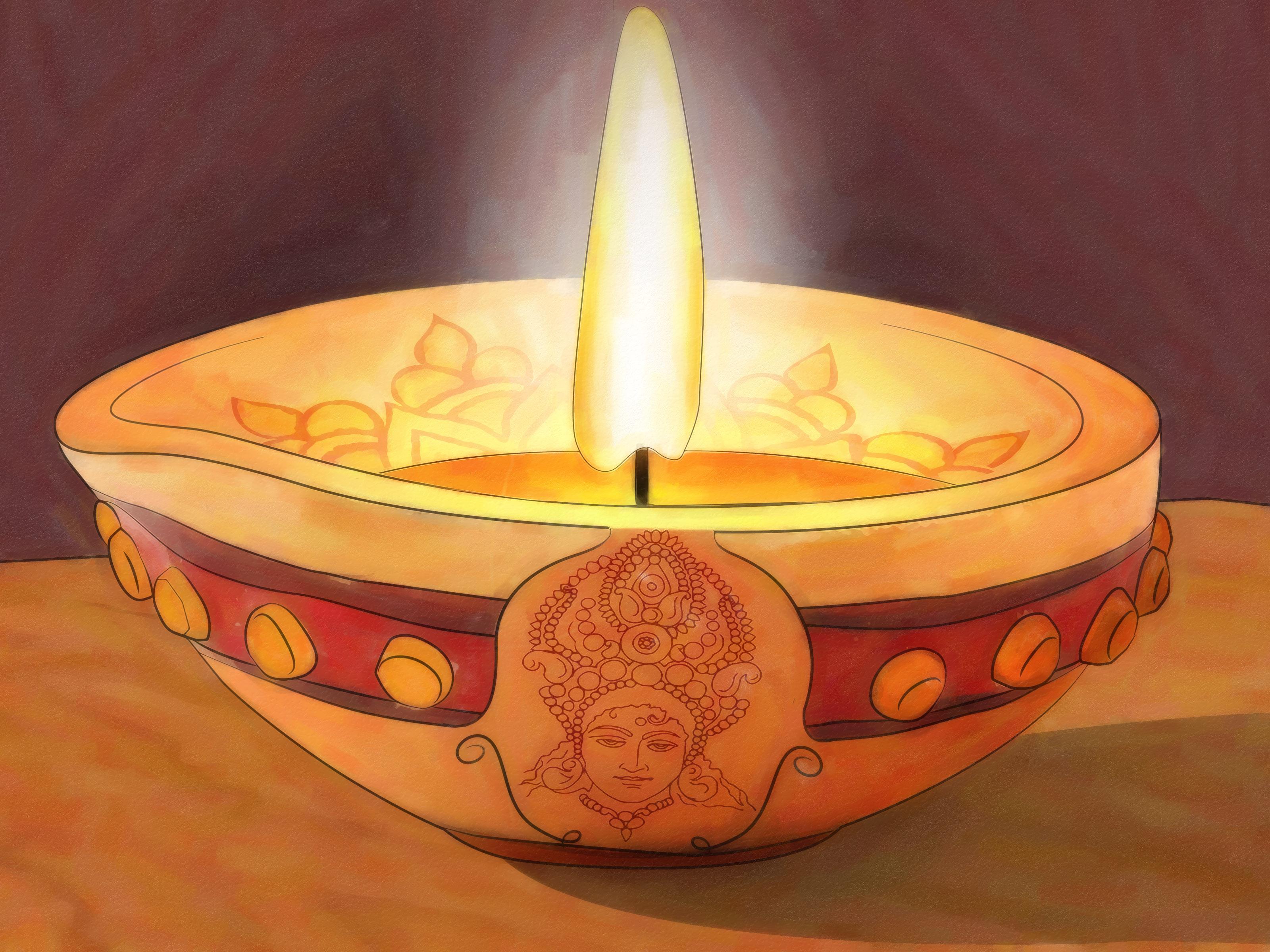 3 Ways to Decorate a Diya  wikiHow