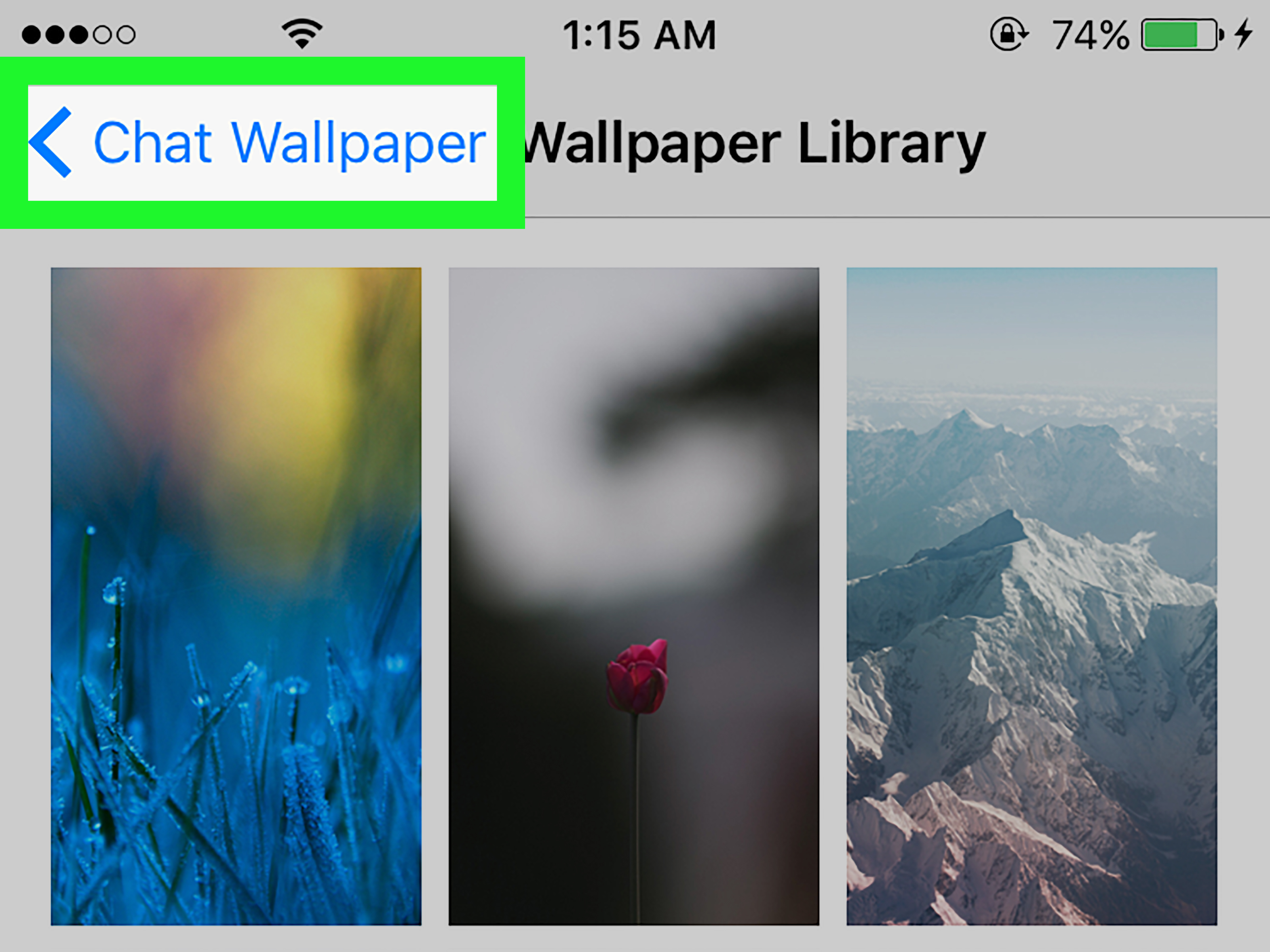 Iphone 6 Default Wallpaper How To Change Your Chat Wallpaper On Whatsapp With Pictures