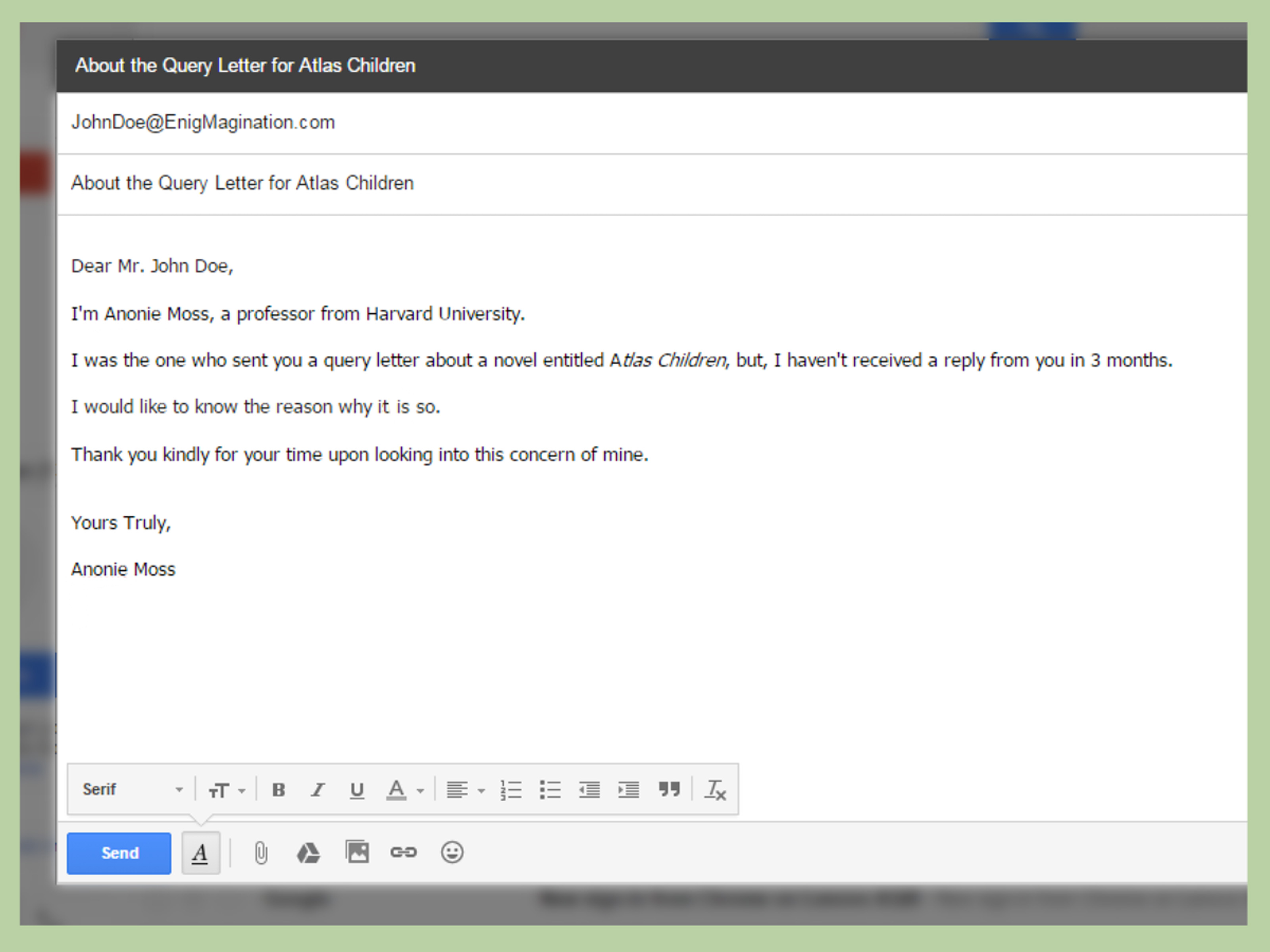 How To Write A Query Letter 15 Steps With Pictures