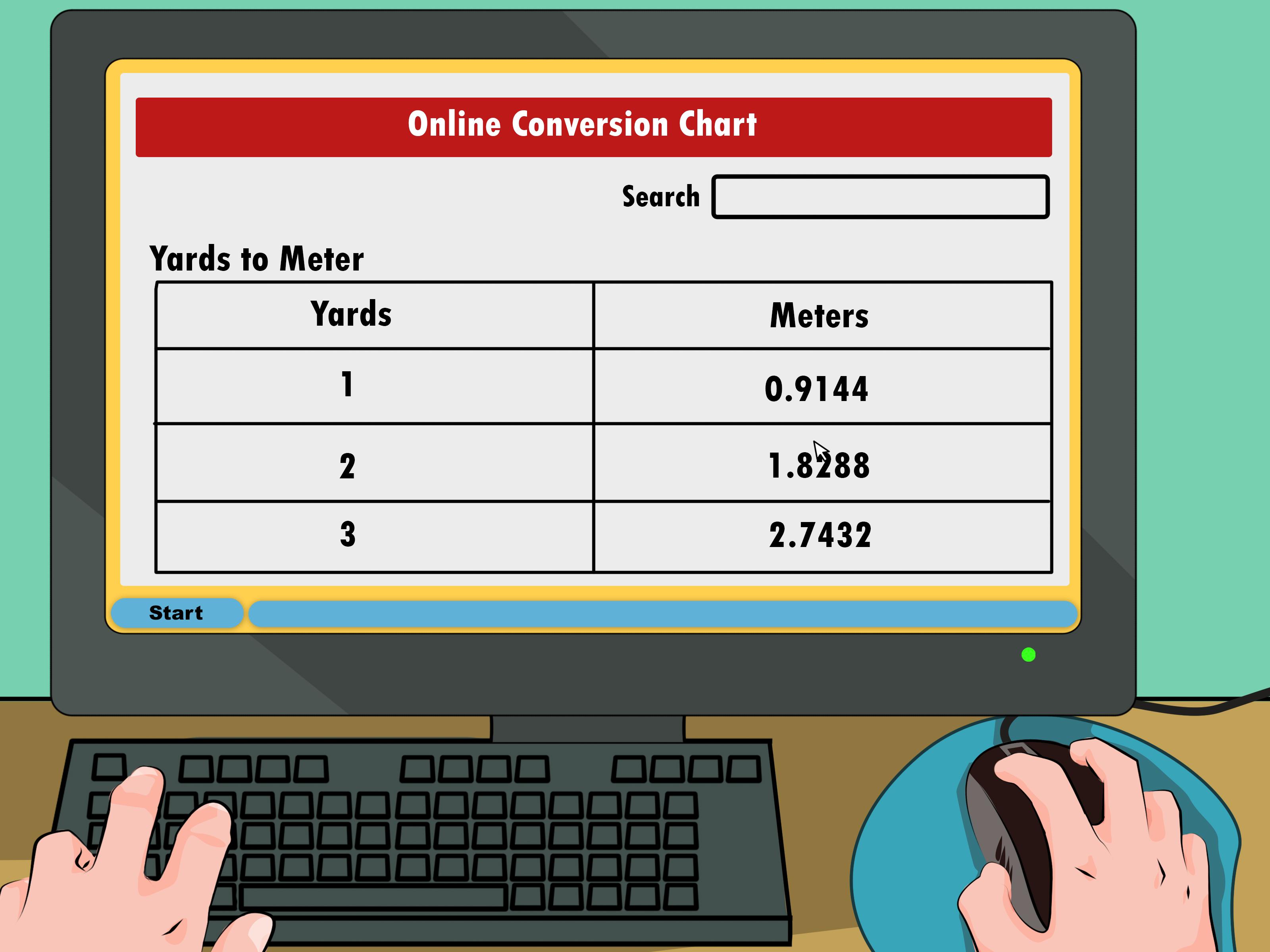 4 Ways To Convert Yards To Meters