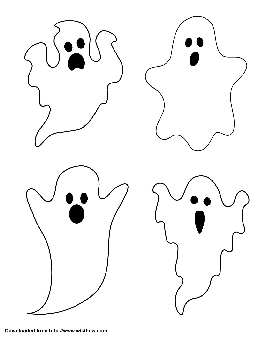 Printable Ghosts