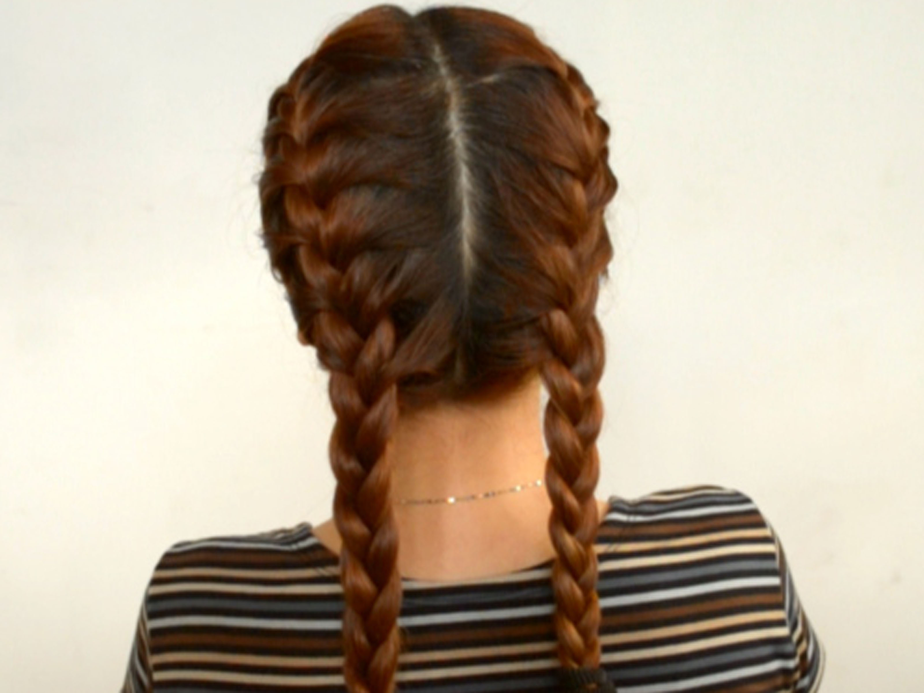 How to Style Two French Plaits: 7 Steps (with Pictures