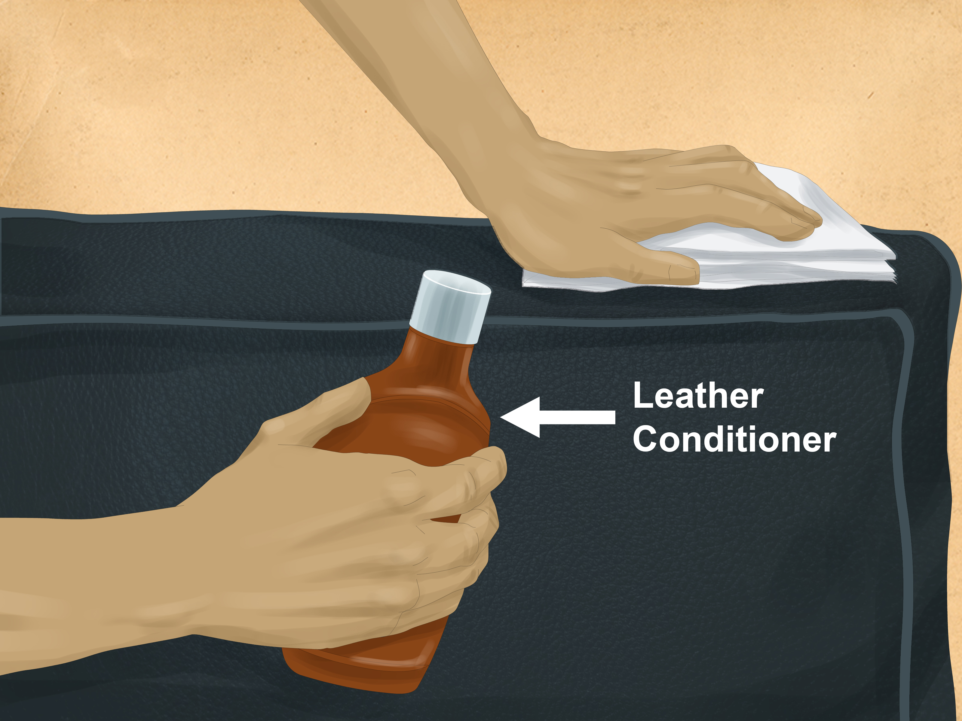how to clean a leather sofa with urine silver bed remove stain from couch 7 steps