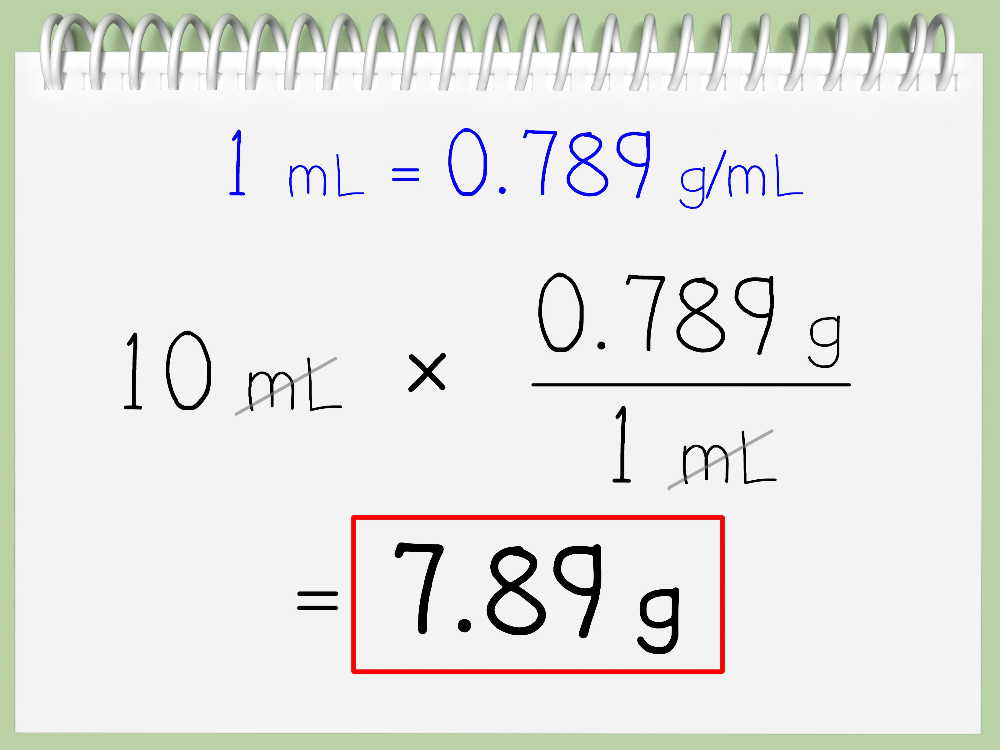 Come Convertire Millilitri (ml) in Grammi: 12 Passaggi