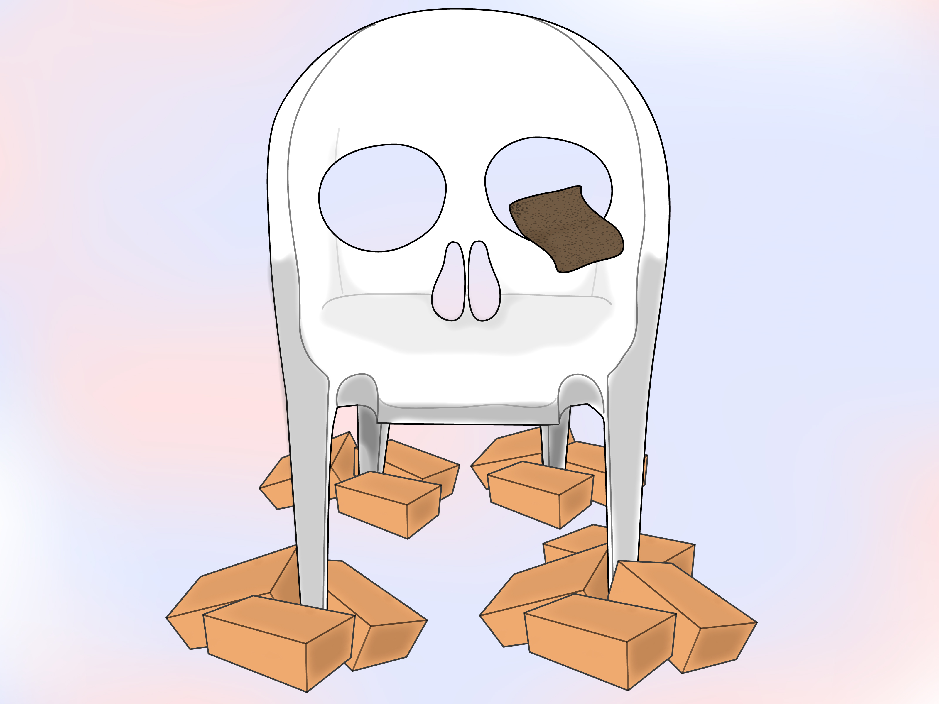 skull chair eames white how to design a patio 9 steps with pictures
