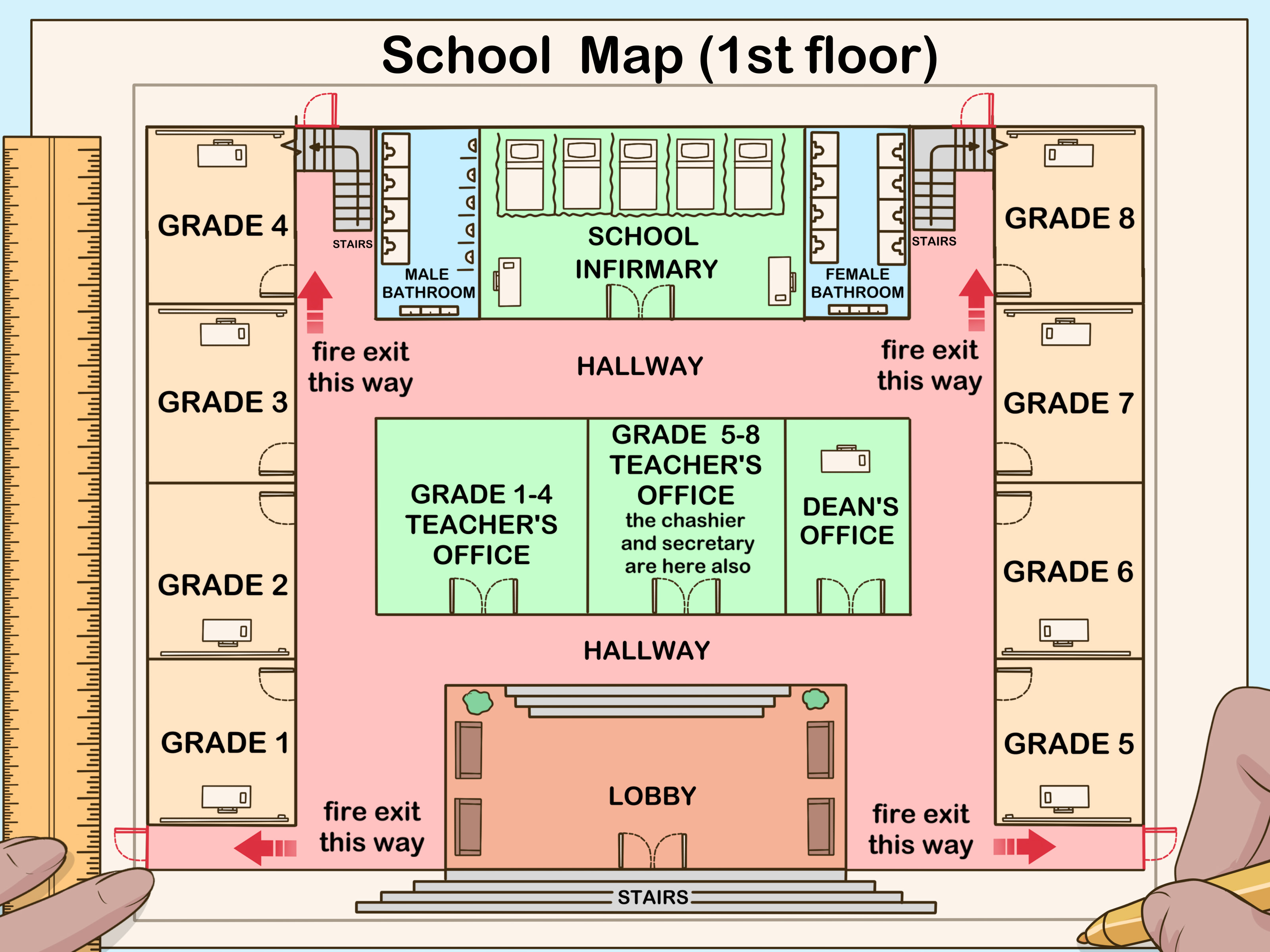 How To Make A School Map For A Class Project 14 Steps
