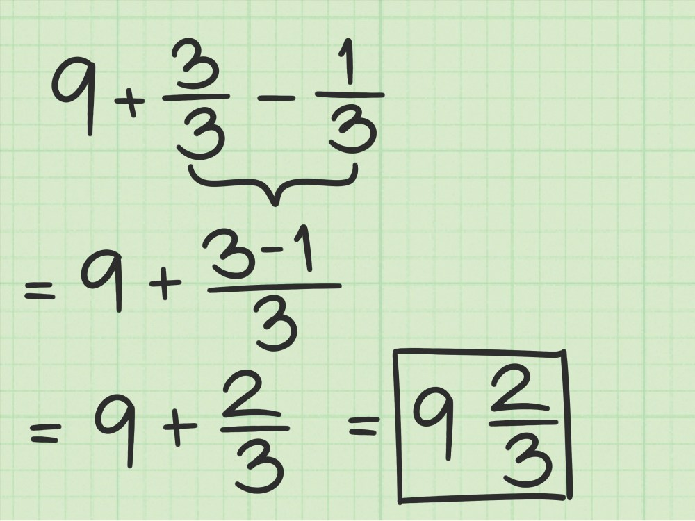 medium resolution of How to Subtract Fractions from Whole Numbers: 10 Steps