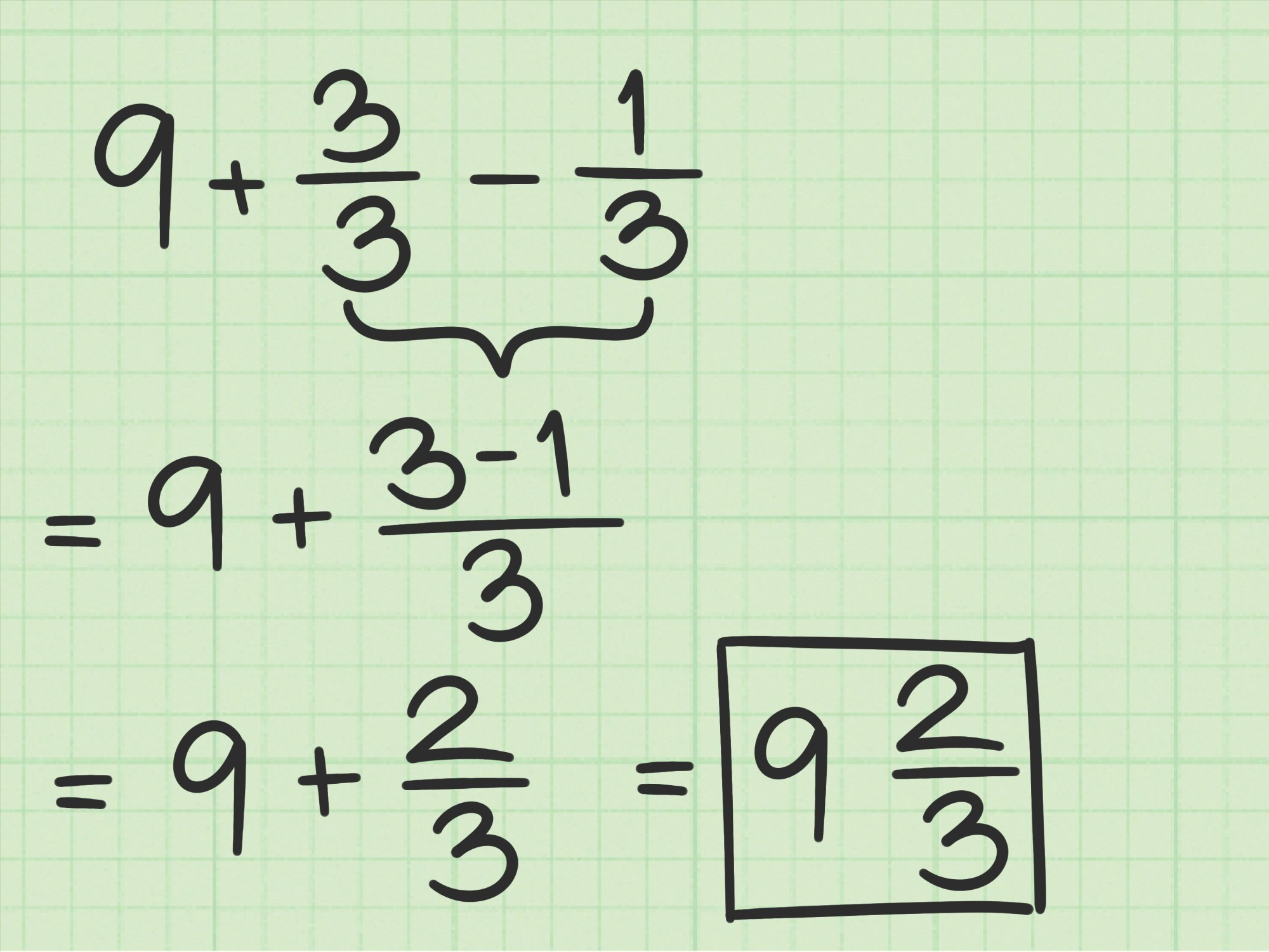 hight resolution of How to Subtract Fractions from Whole Numbers: 10 Steps