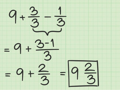 small resolution of How to Subtract Fractions from Whole Numbers: 10 Steps