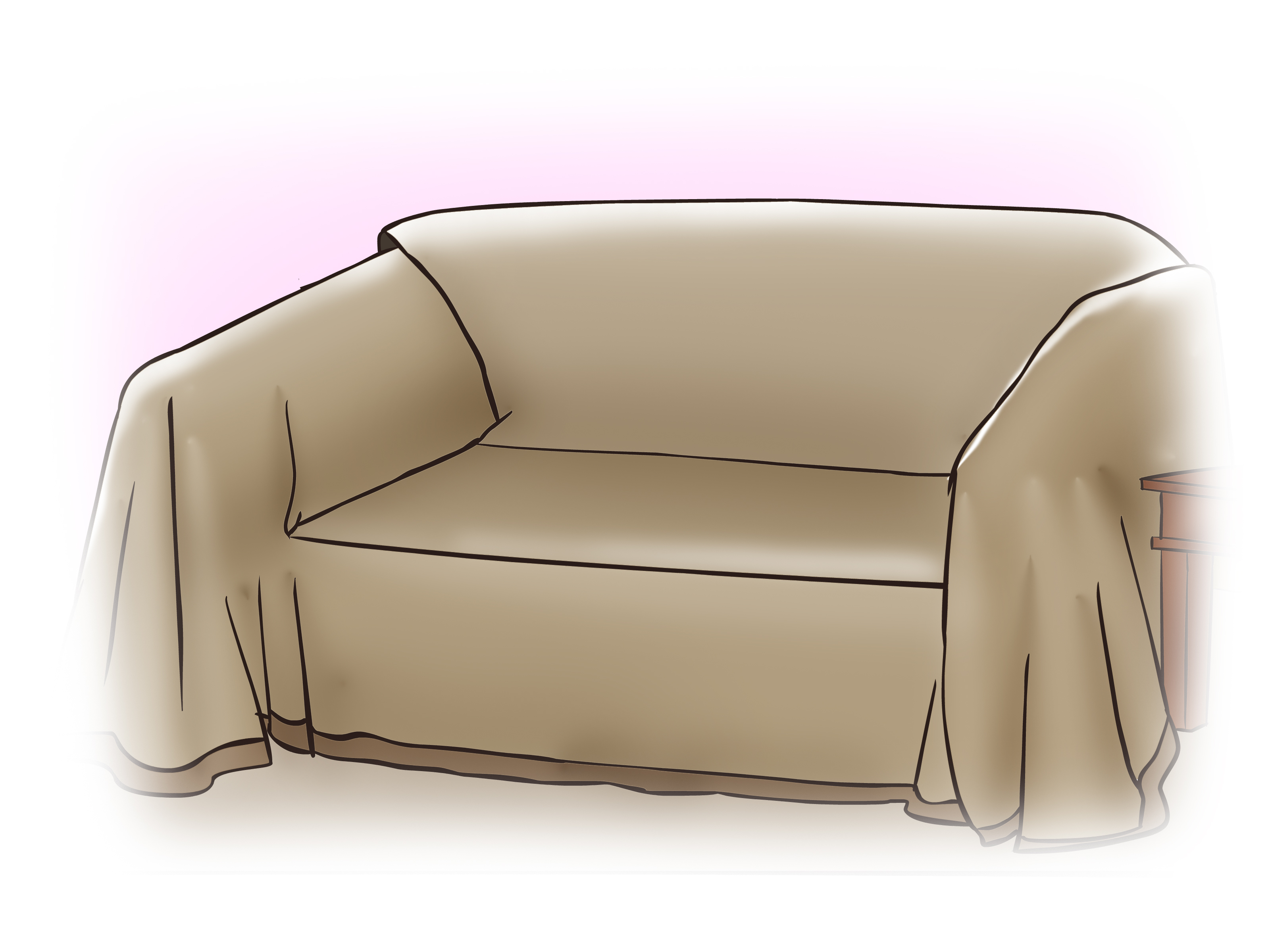 how to make a slipcover for sofa wicker seat cushions with pictures wikihow