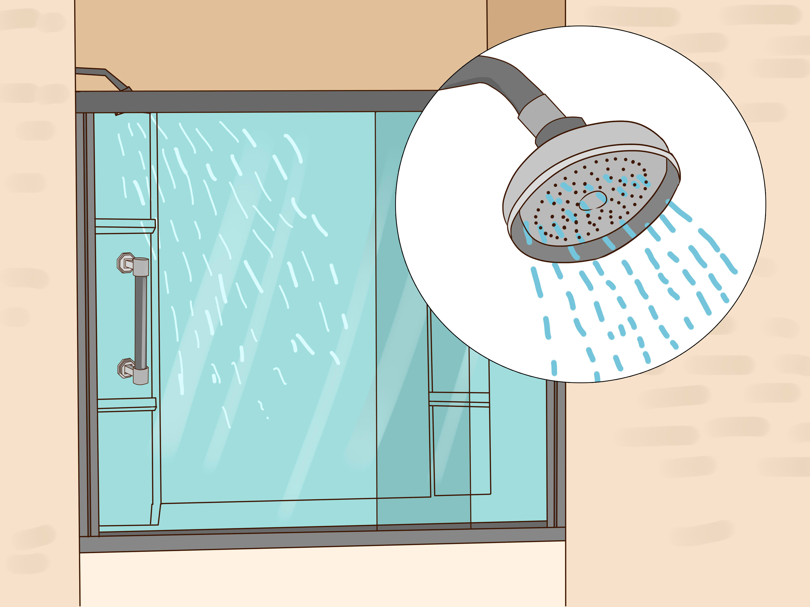 How To Install A Glass Shower Door With Pictures Wikihow