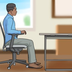 Office Chair Adjustments Wheelchair Cushions Walgreens 3 Ways To Adjust Height Wikihow