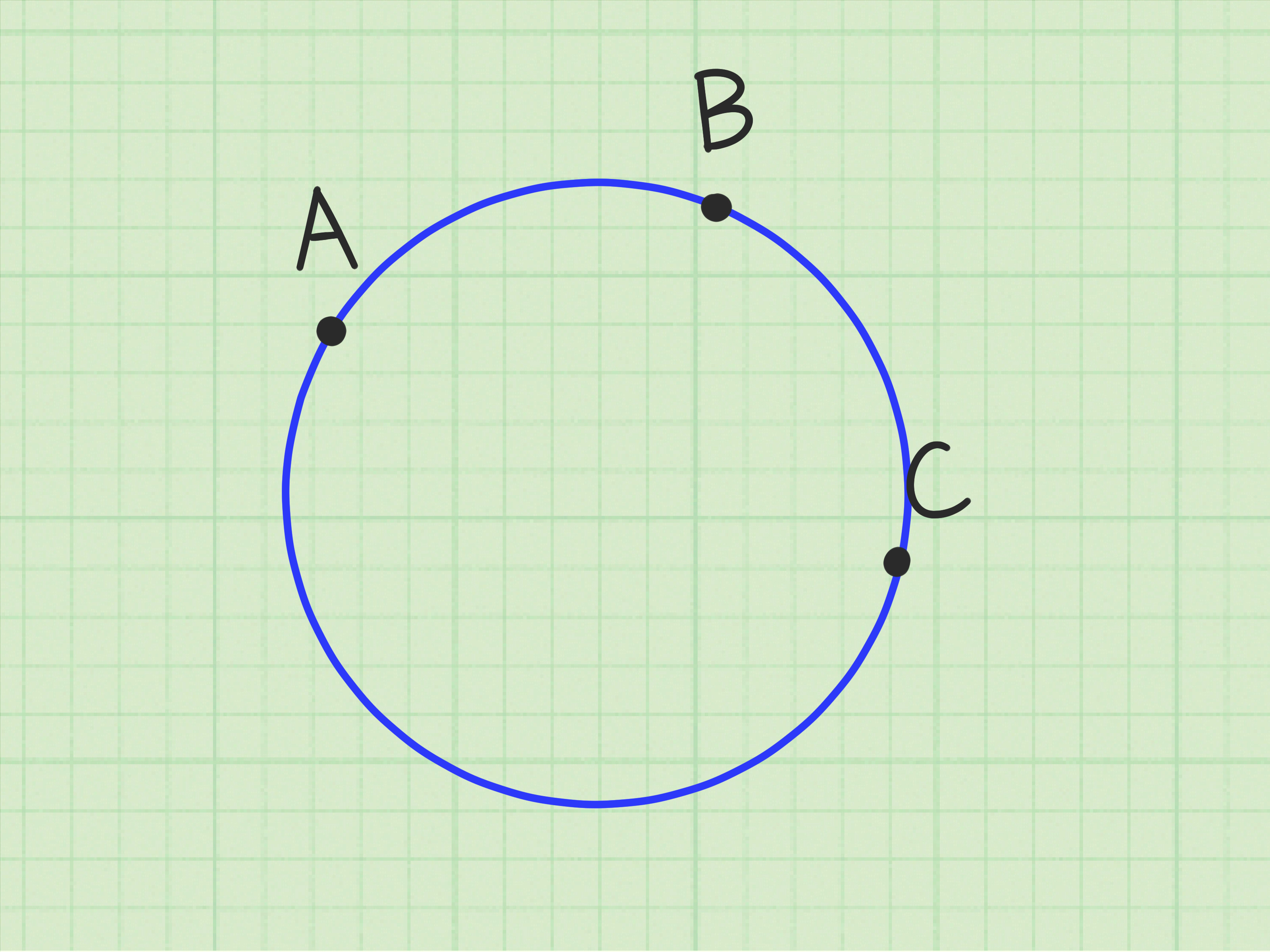 How To Draw A Circle Given Three Points 10 Steps With