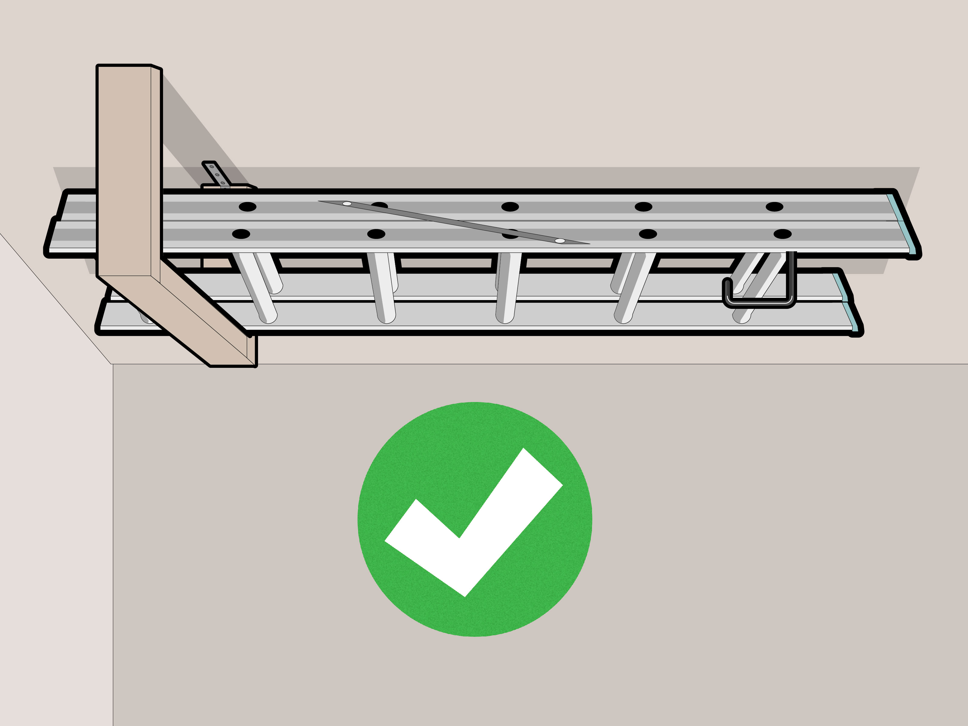 How to Hang a Ladder From the Ceiling  wikiHow