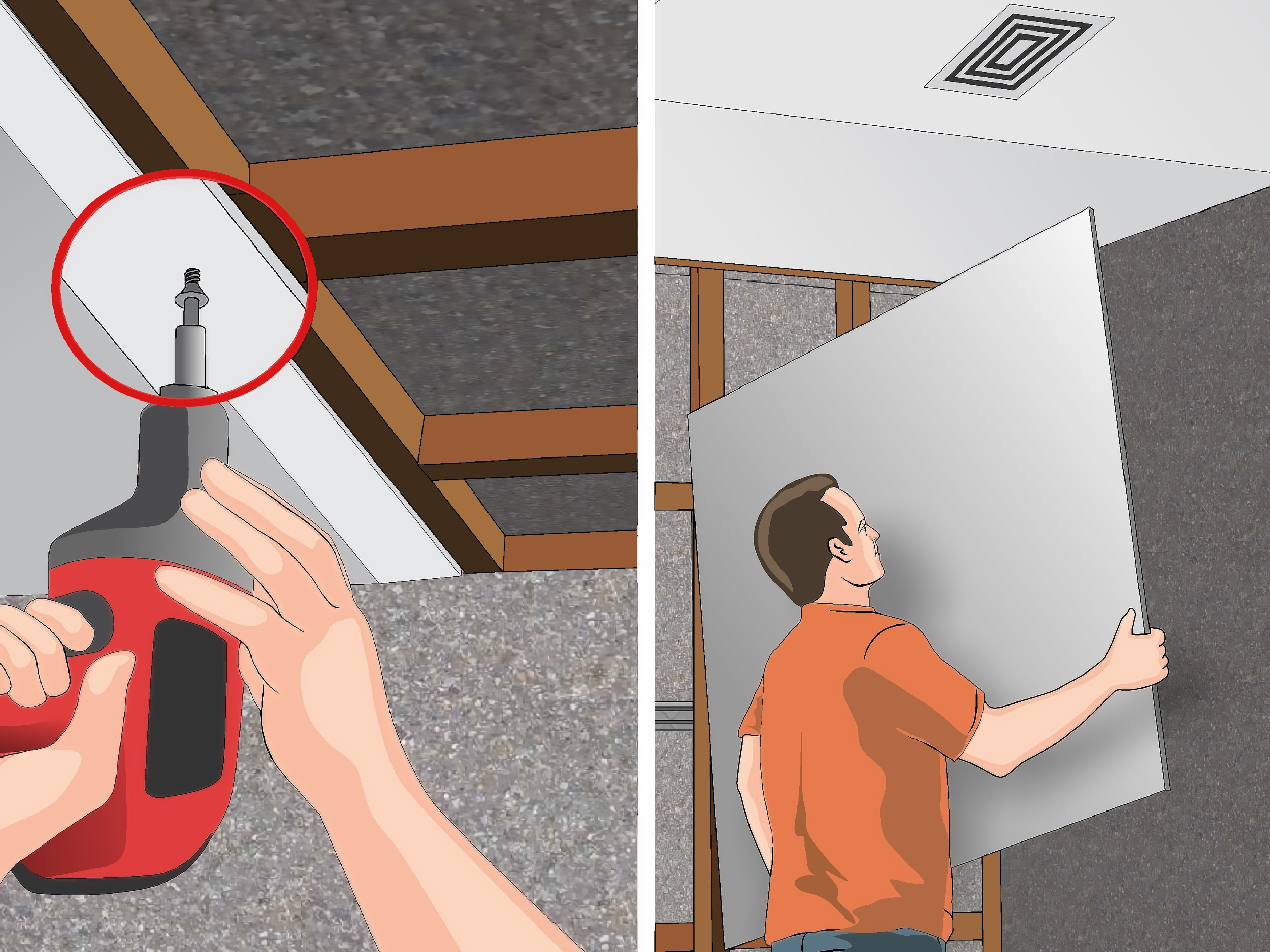 How to Install Ceiling Drywall 14 Steps with Pictures