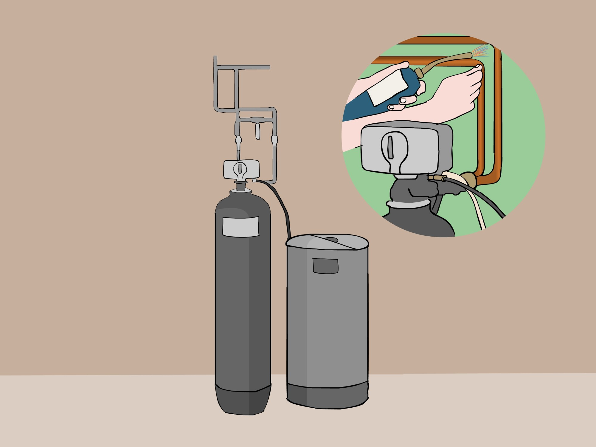 hight resolution of piping diagram for water softener