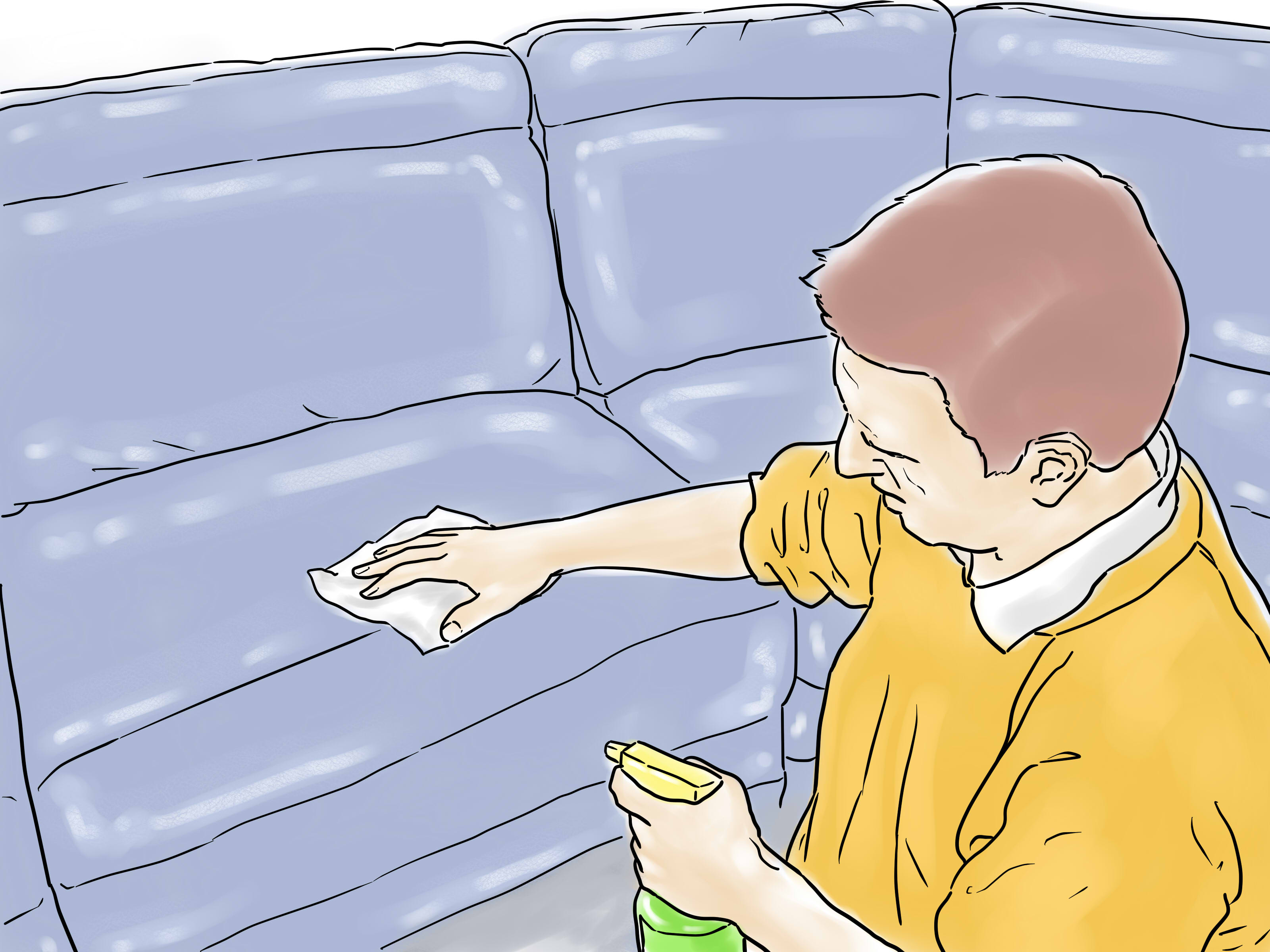 how to remove pen ink from white leather sofa grey blue rug 3 ways stains wikihow