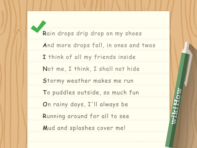 How to Write an Acrostic Poem: 26 Steps (with Pictures) - wikiHow