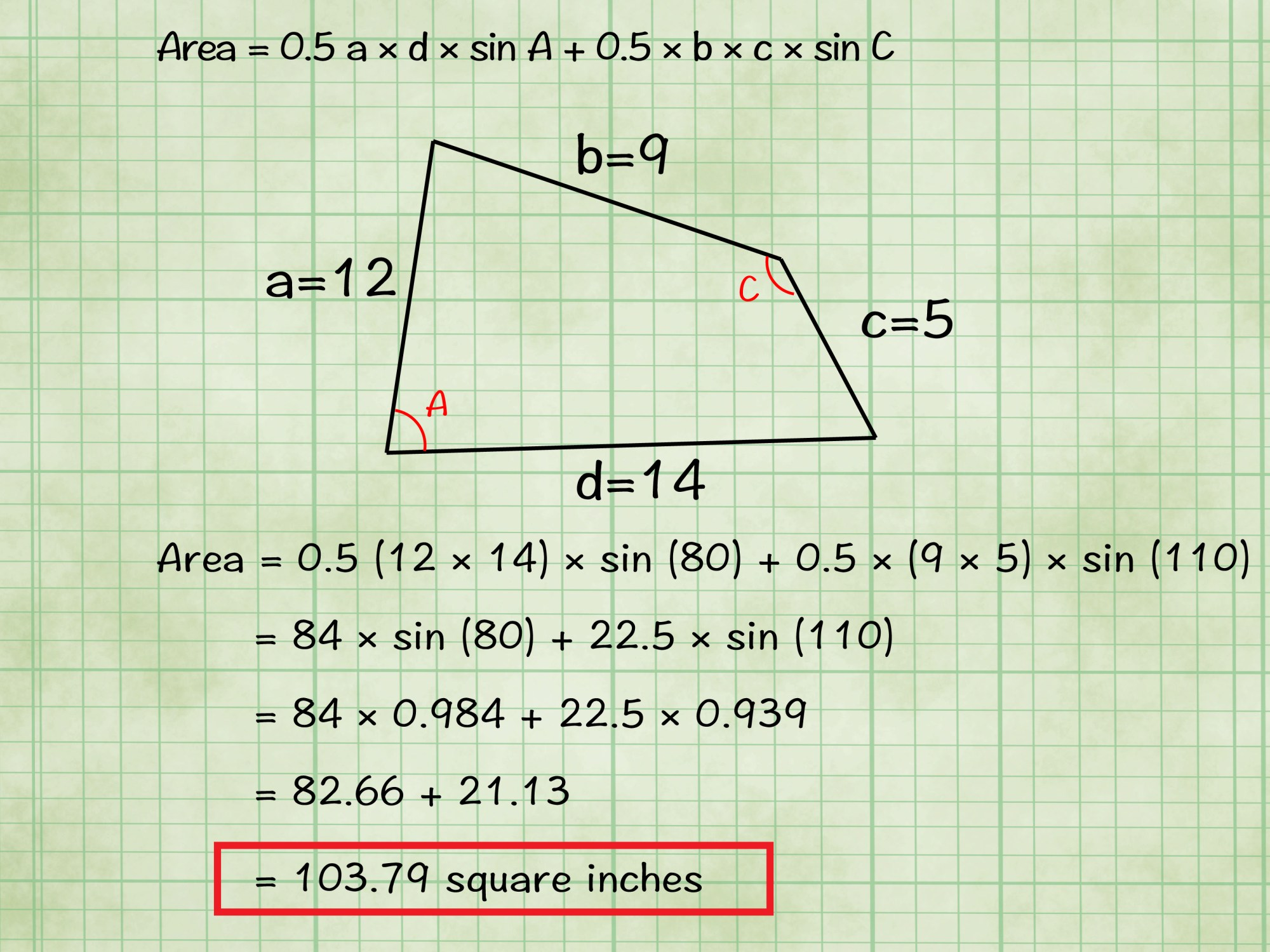 hight resolution of how to find the area of a quadrilateral