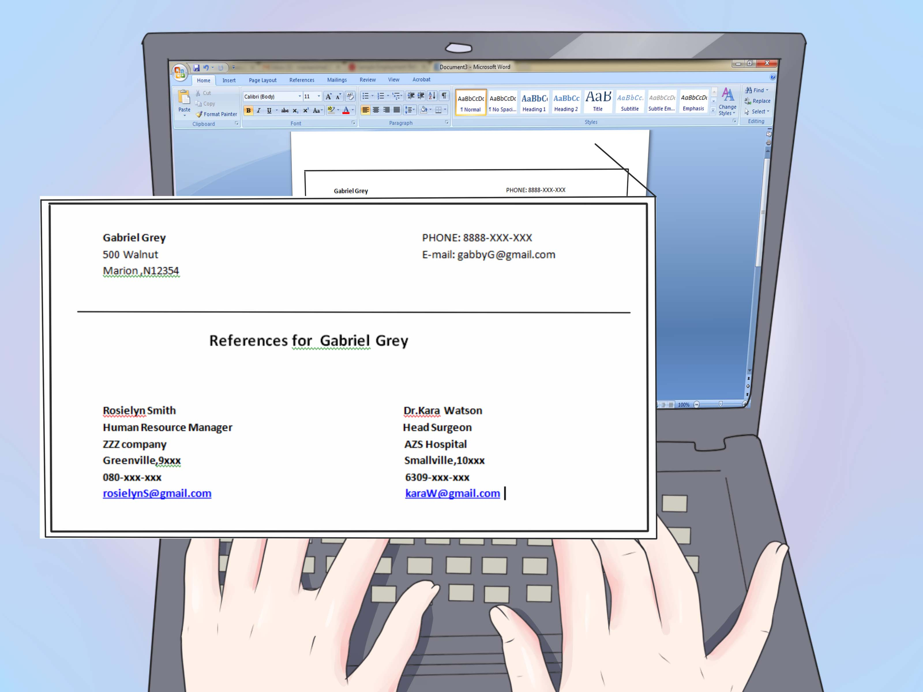 The Best Way To References On A Resume With Samples WikiHow