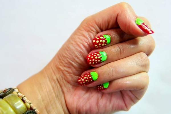 Strawberry Nail Art 7 Steps With - Wikihow