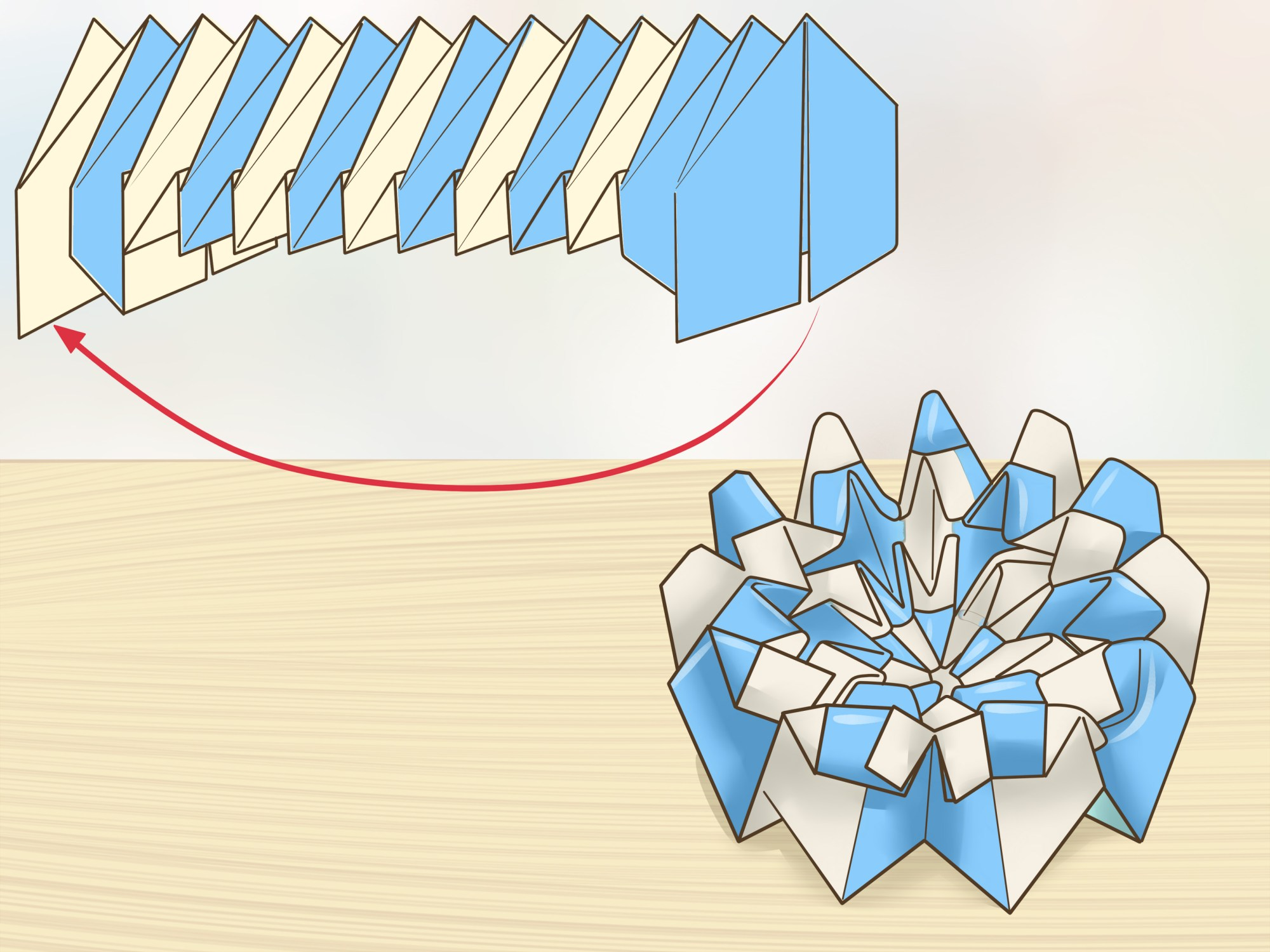 hight resolution of how to make origami fireworks