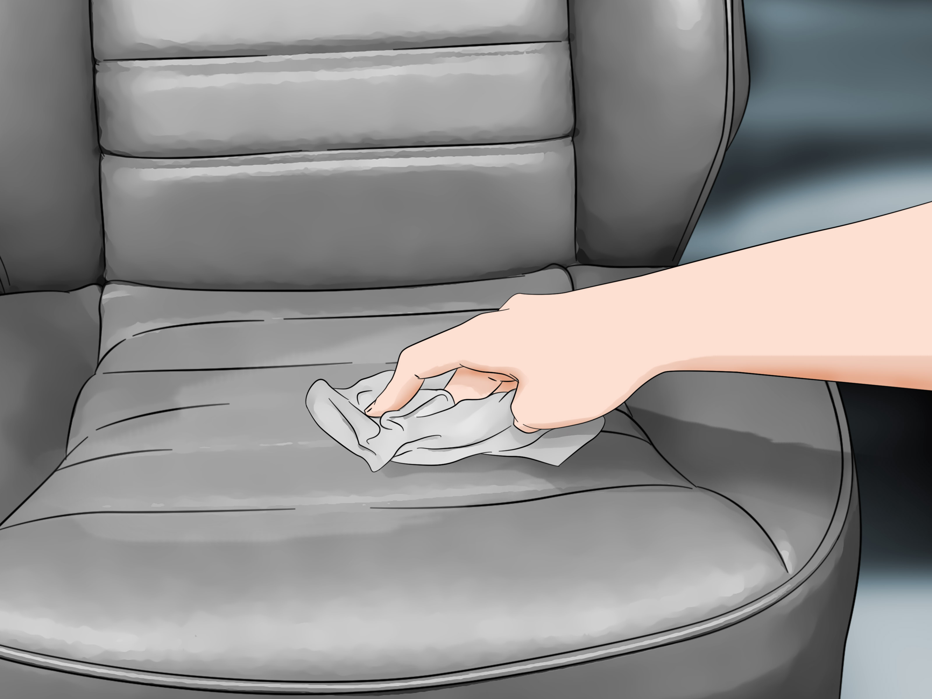 cover chair seat car massage deals 3 ways to clean vinyl seats wikihow how
